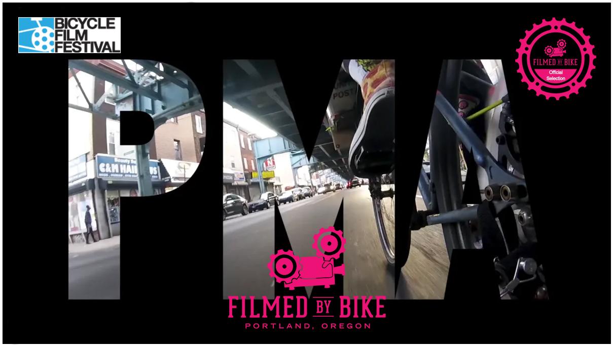 PMA Bike Ride Screen Shot with Film Festival Logos