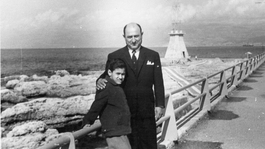 Esper Daaboul (right) and a young Maurice (left)