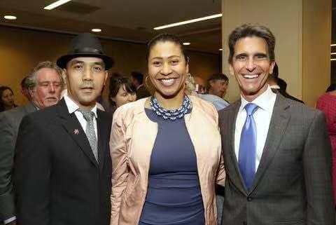 San Francisco Mayor London Breed and Supervisor Mark Leno