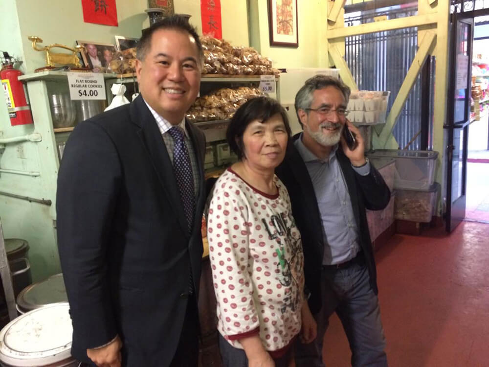 Assemblyman Phil Ting and Supervisor Aaron Peskin