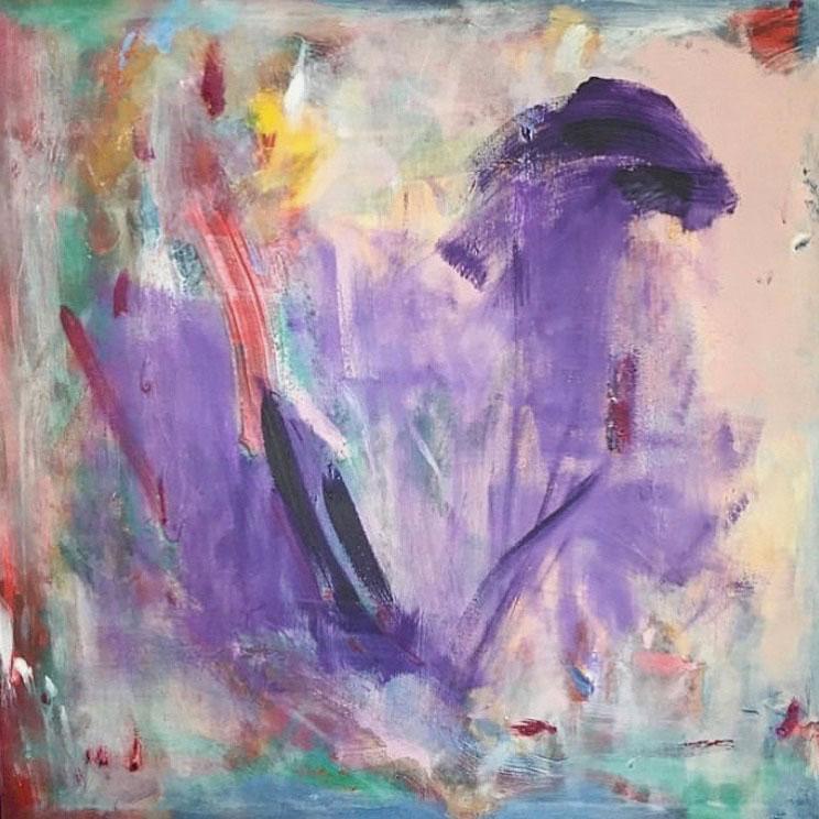 Acrylic on canvas.