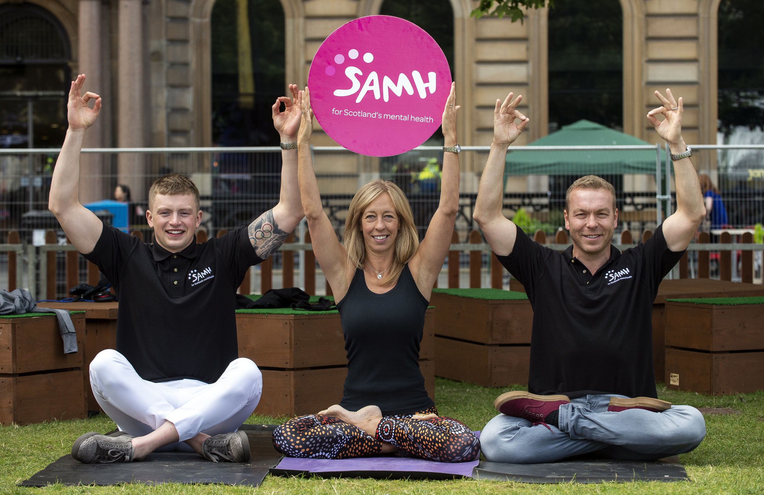 Adam Peaty, Emma Frame, Sir Chris Hoy olympians - supporting SAMH 2018 Mental Health Charter for Physical Activity & Sport