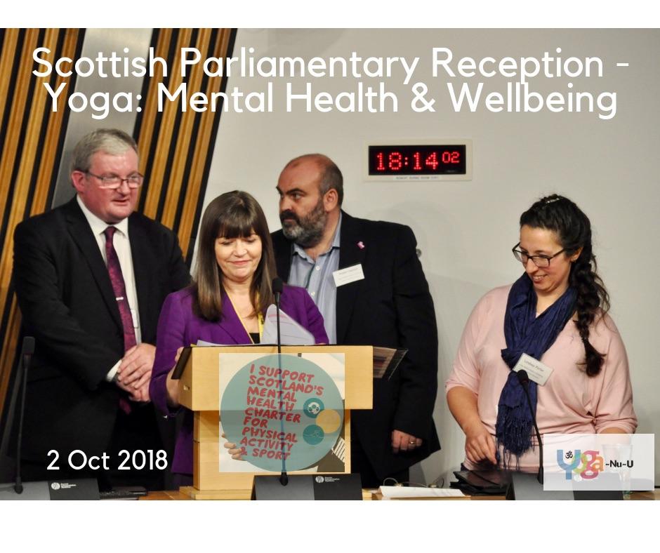 Angus MacDonald MSP, Clare Haughey MSP & Minister for Mental Health, Robert Nesbitt - SAMH, Lindsey Porter.