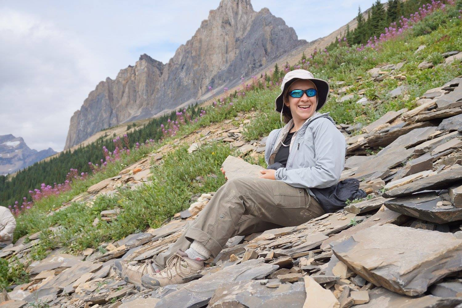 Finding trilobites and other Cambrian fossils (~540 million years old!) at the top of Wapta Mountain in Yoho National Park, British Columbia, Canada.