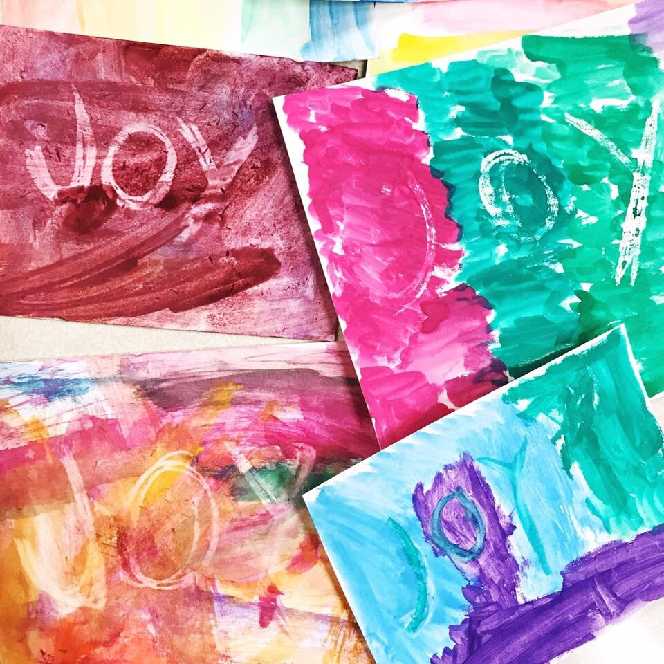 """Some of our """"hidden joy"""" paintings from 2019"""