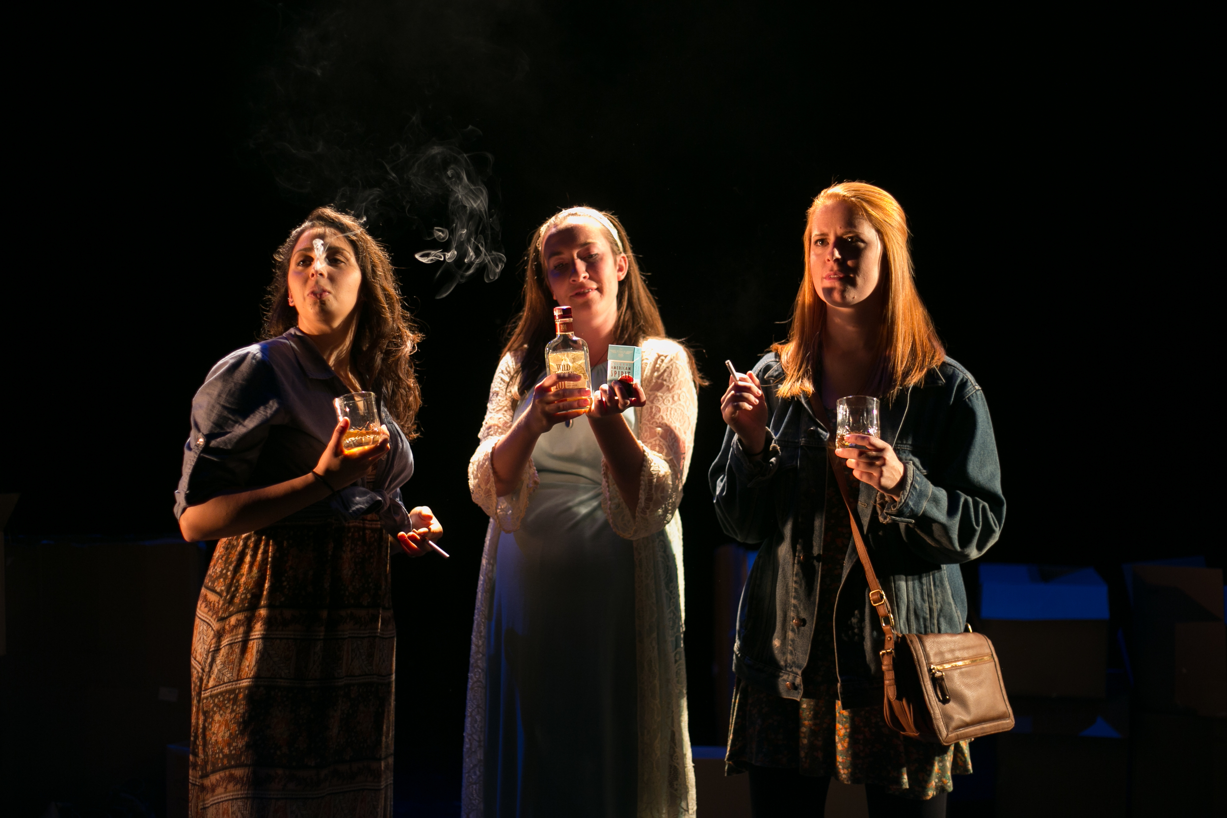 Gigi Greene, Julia Finch and Hailey McAffee in Dead Dog's Bone: A Birthday Play
