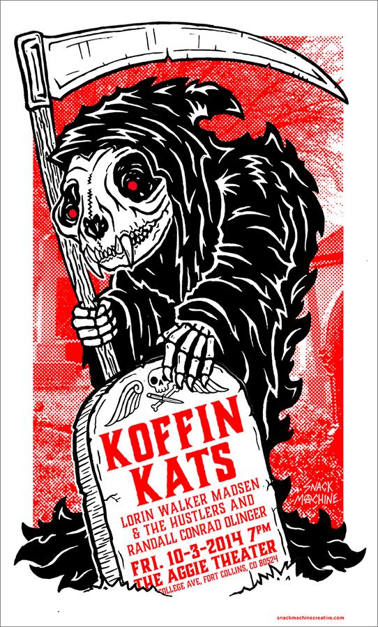 "KOFFIN KATS18""x24"" 2-color screen print -"