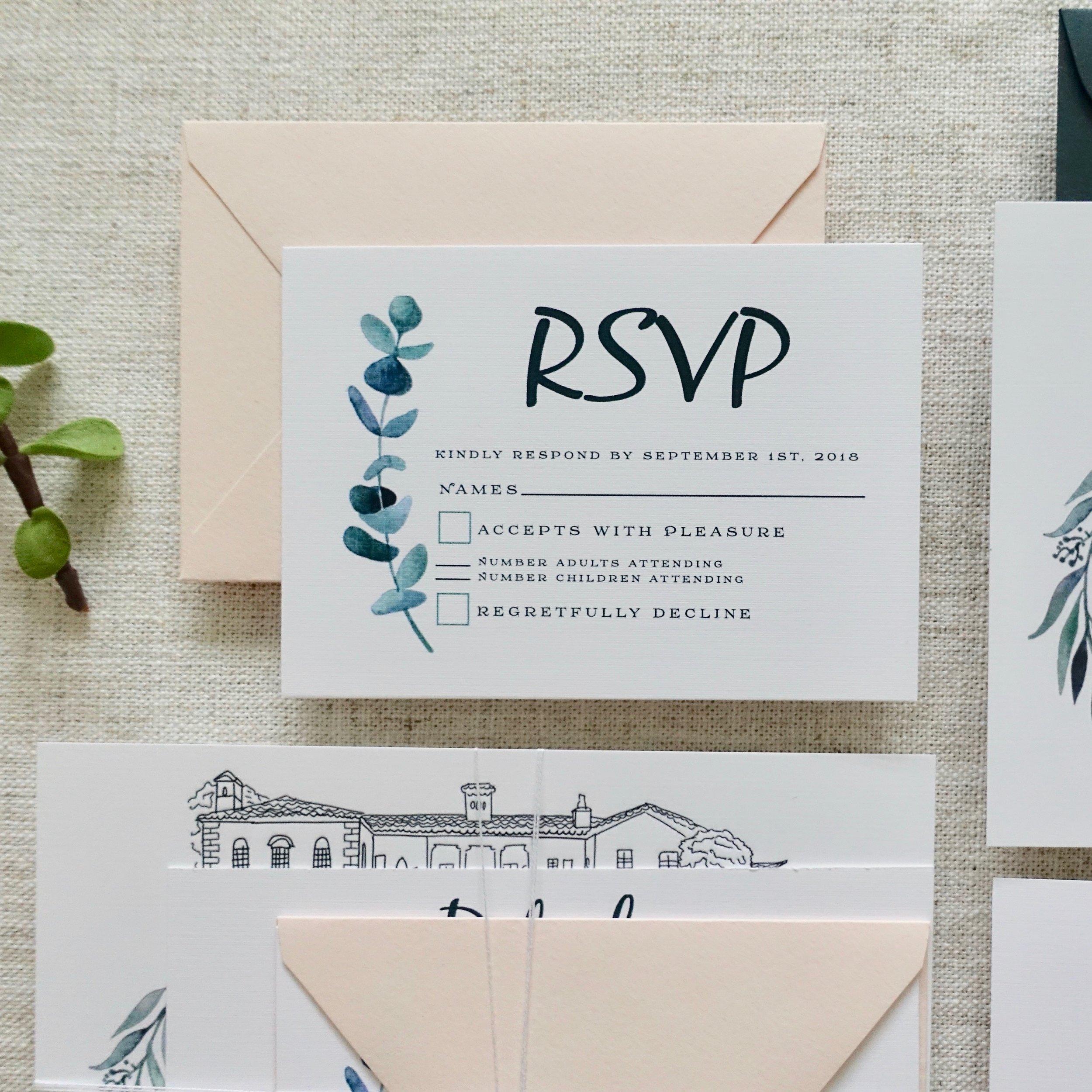 "3.5"" x 5"" RSVP Card + Envelope"