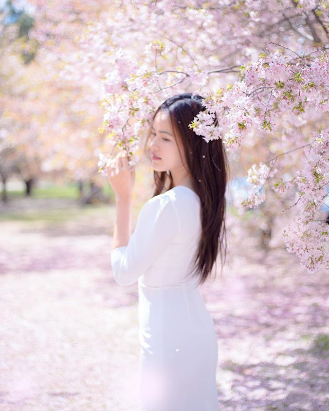 Spring is coming  Amazing model @tuyet_lan  Photo by @dukewiin