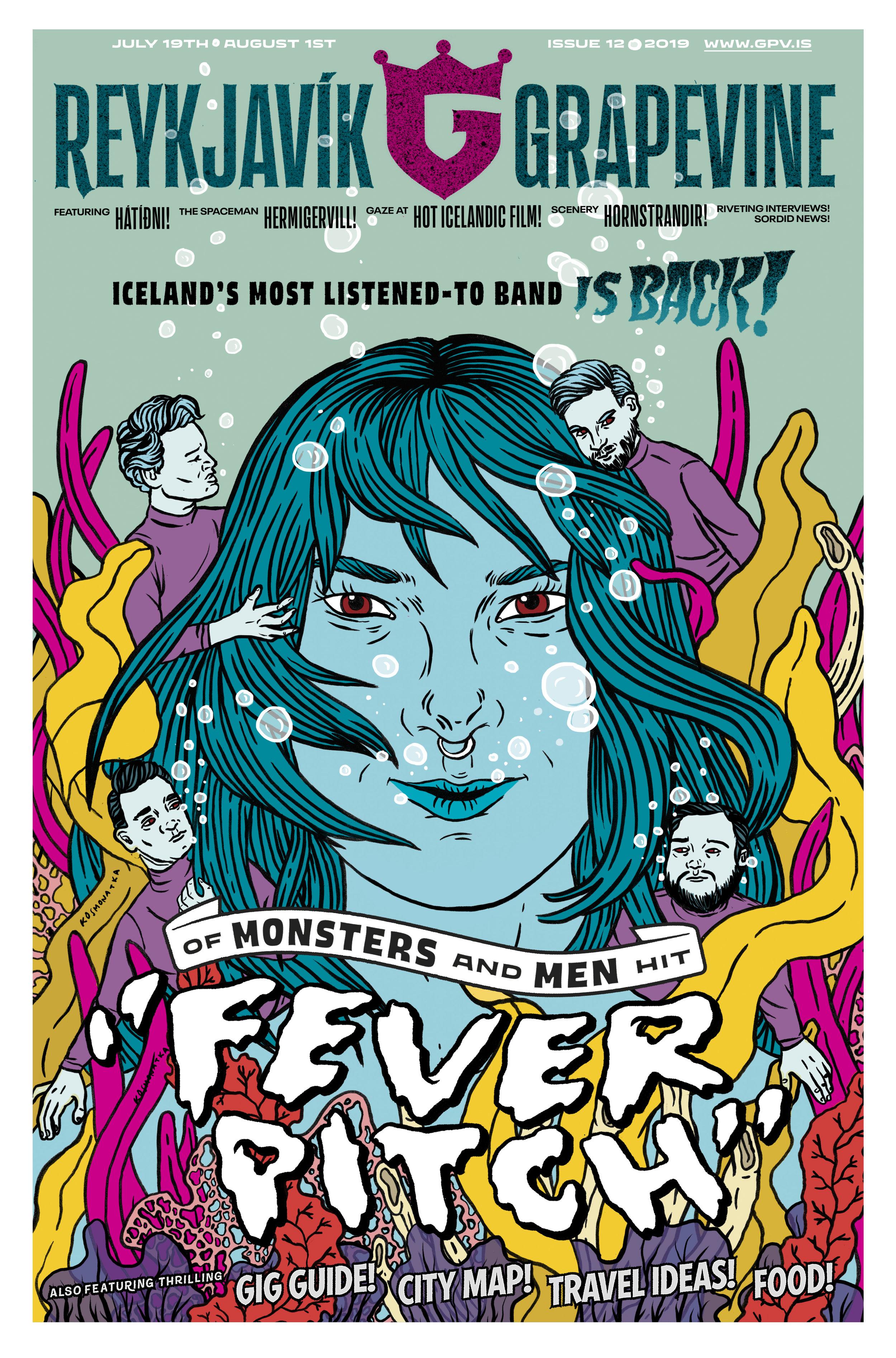 The Reykjavik Grapevine cover illustration