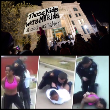 The violent arrest of a black mother, Jacqueline Craig, by a white Fort Worth police officer, William Martin, in late 2016 , and the protests that came after.