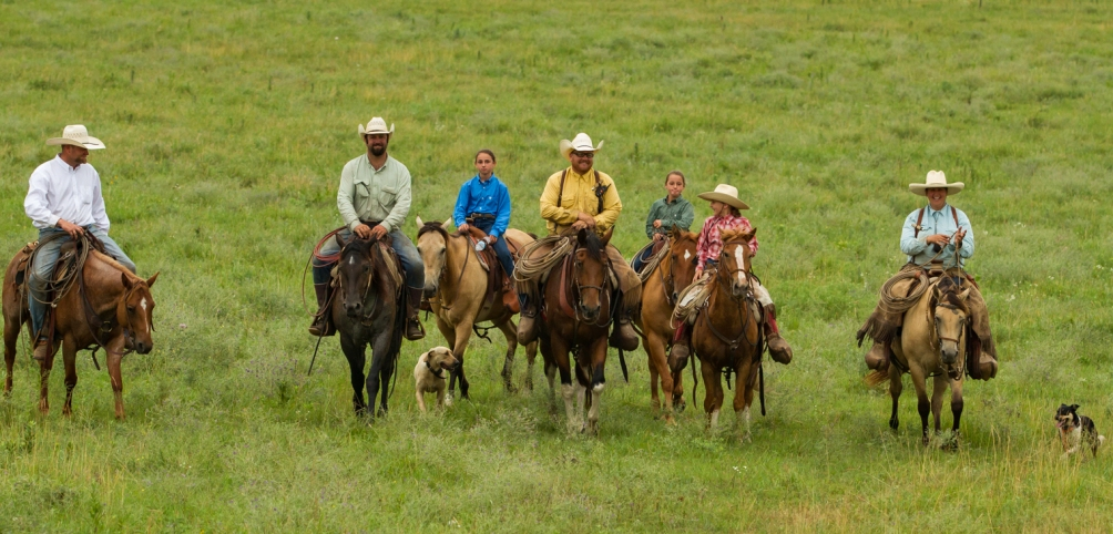 Horseback riding at the Flying W Ranch