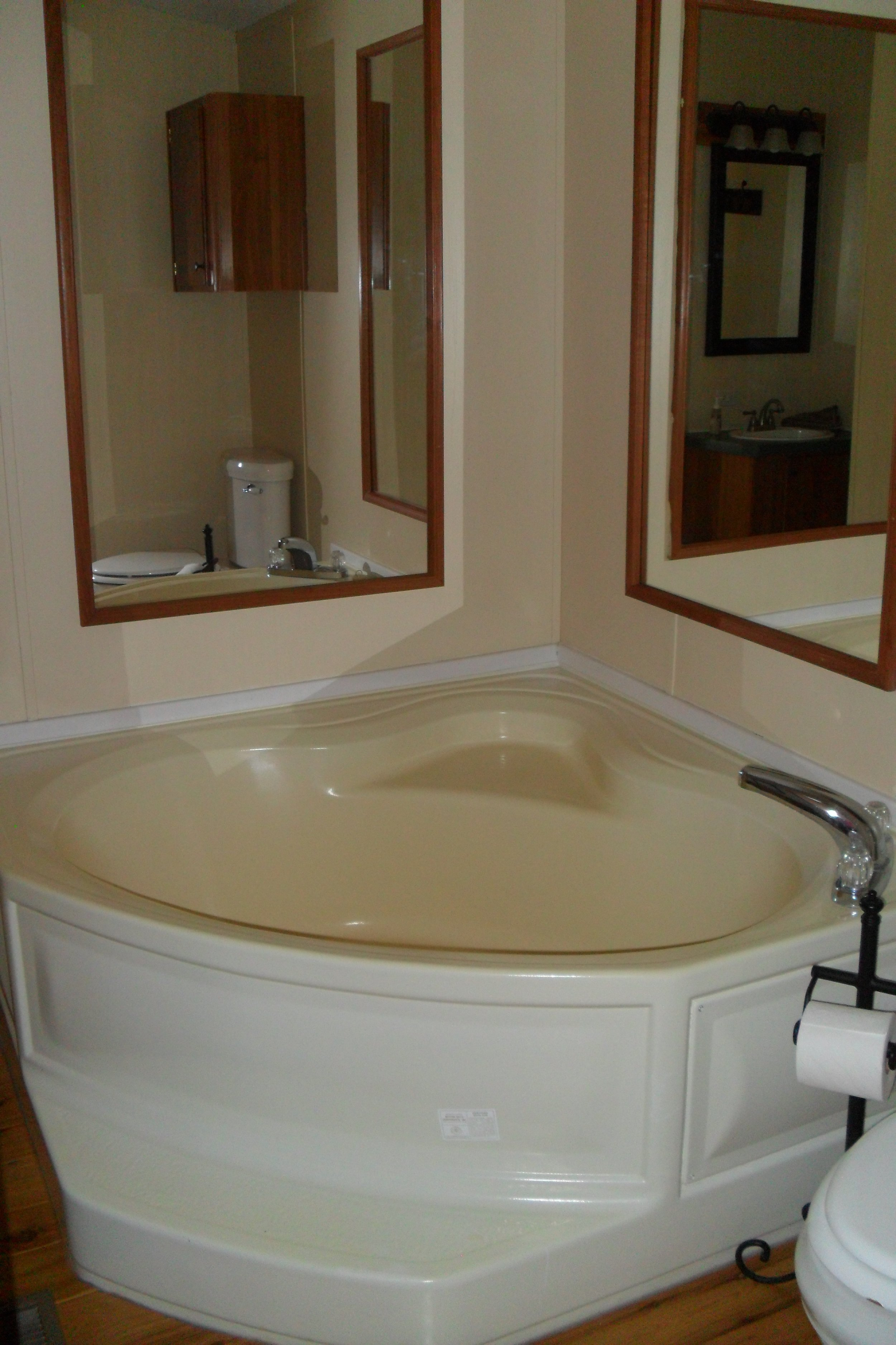 The Cabin: Tallgrass Suite tub and toilet