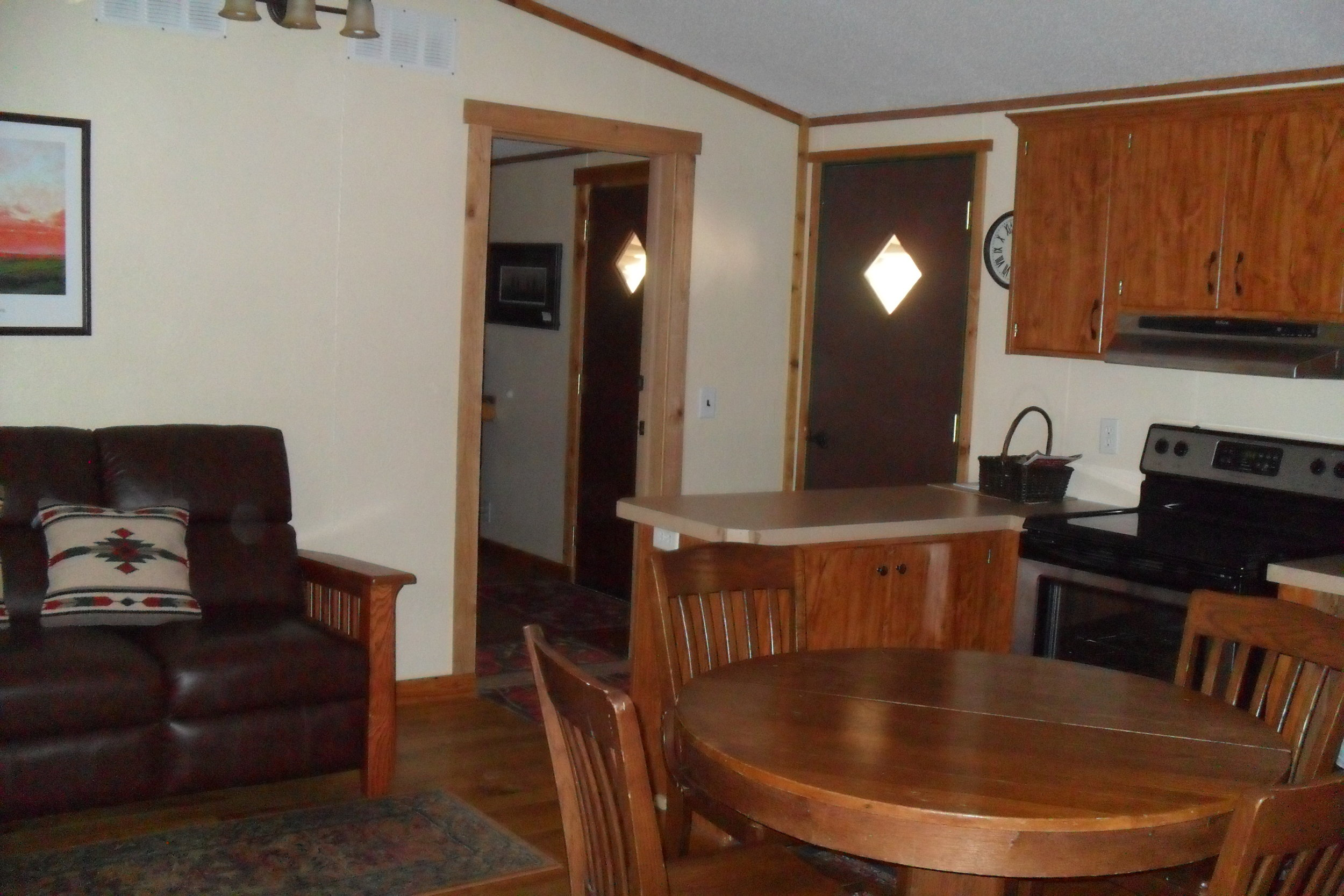 The Cabin: Tallgrass Suite doorway into the Prairie Suite