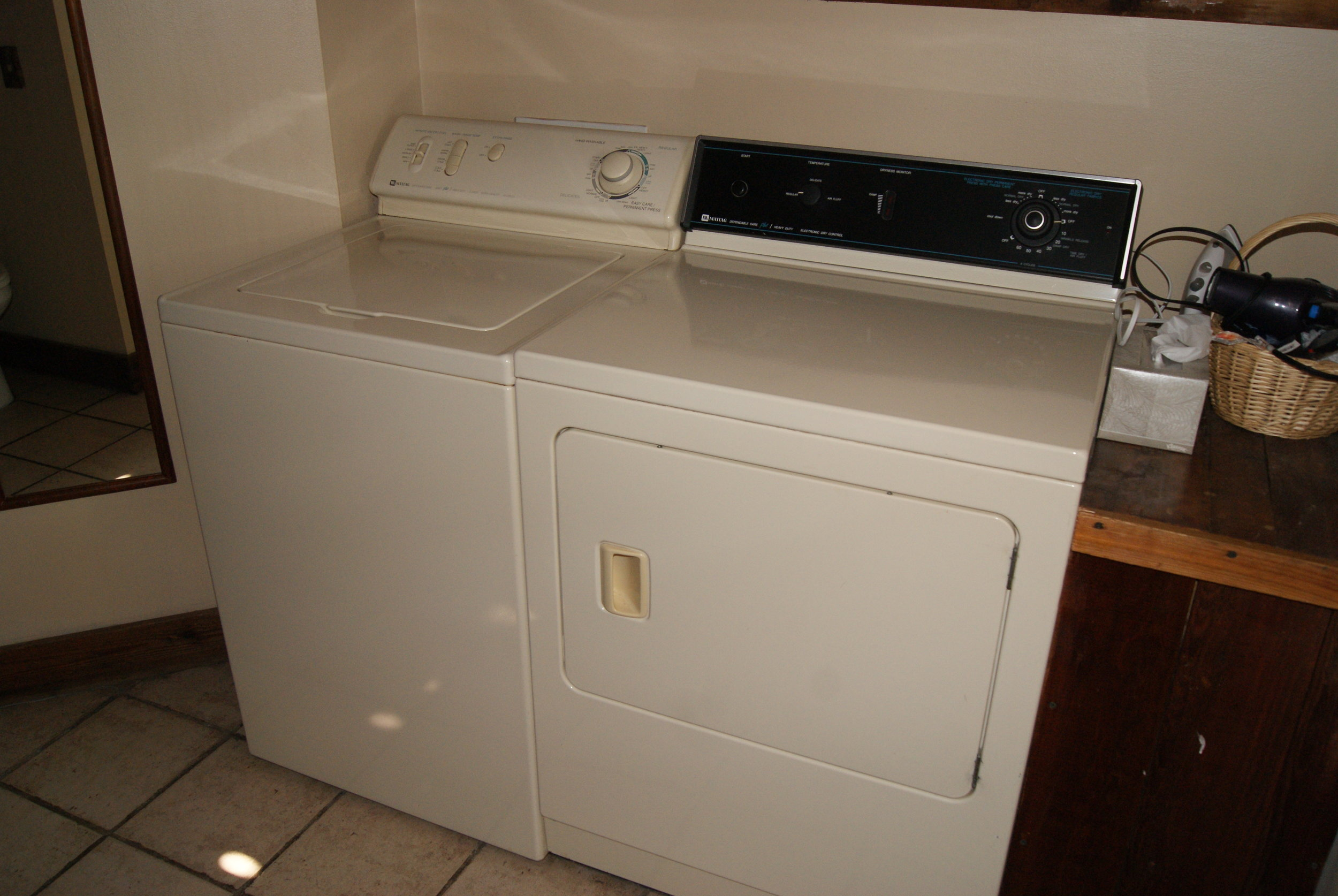 The Lodge West laundry facilities