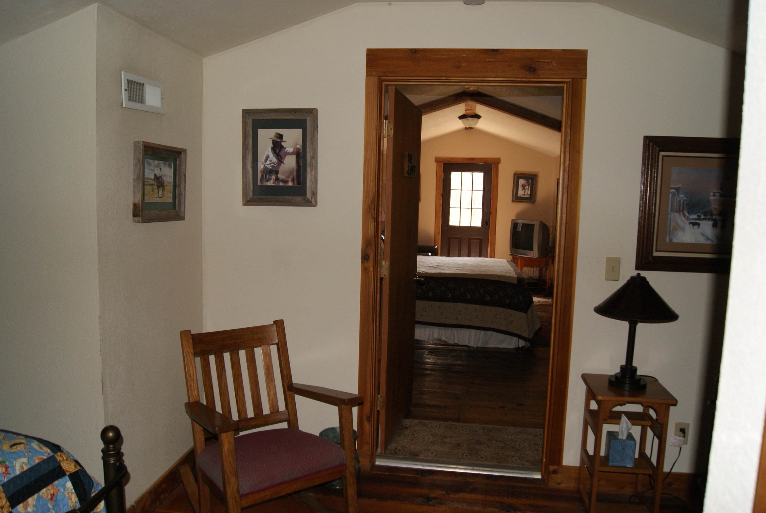 The Lodge West upper level entry into Master Bedroom