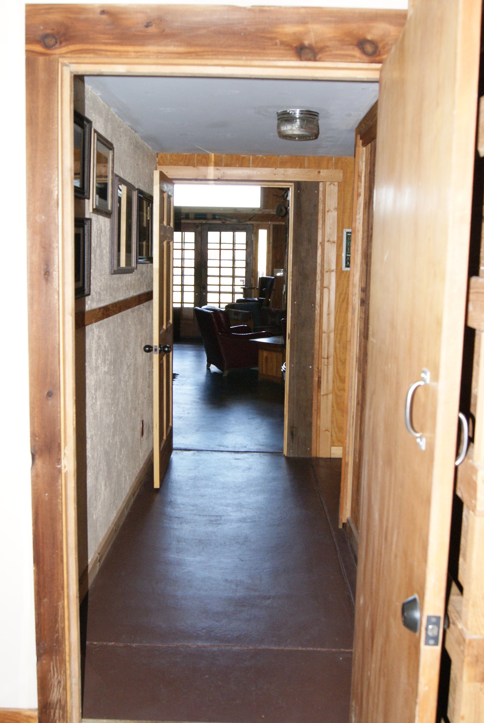 The Lodge hallway from West to East