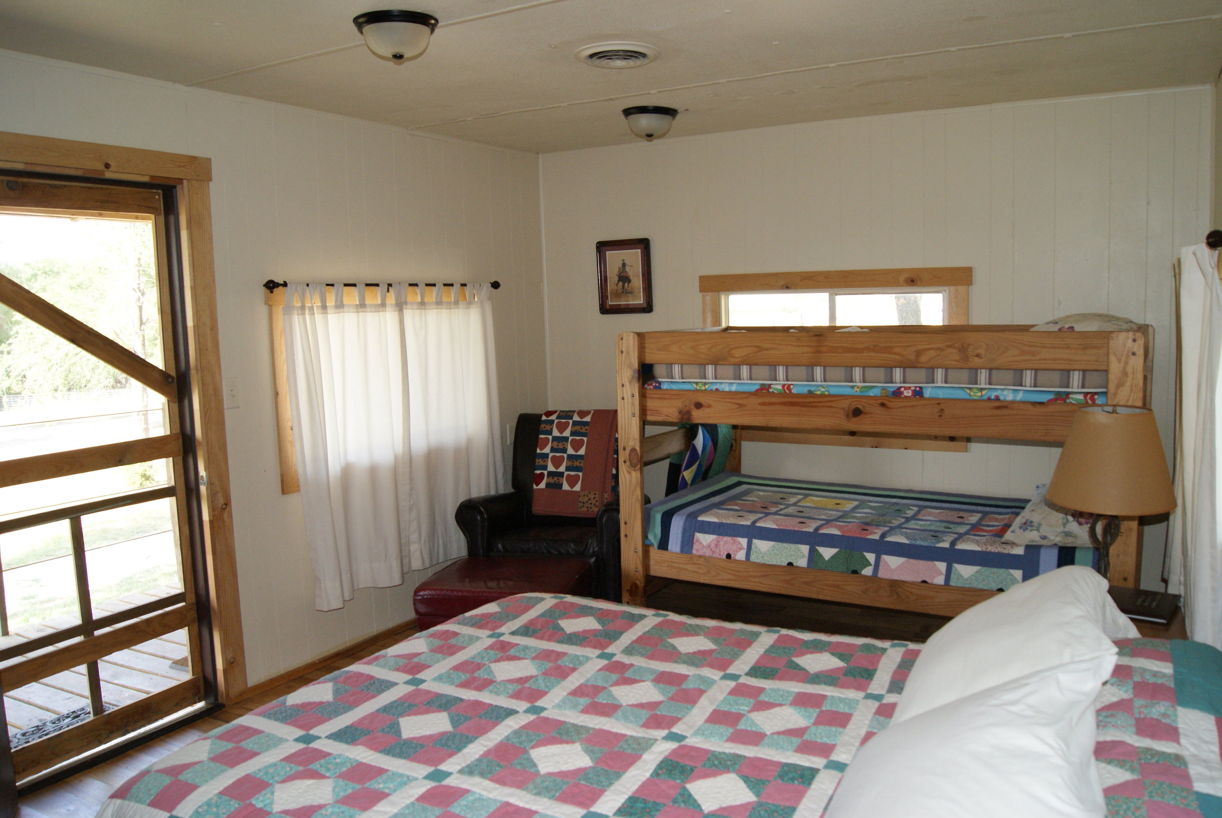 The Bunkhouse: Osage beds and entry