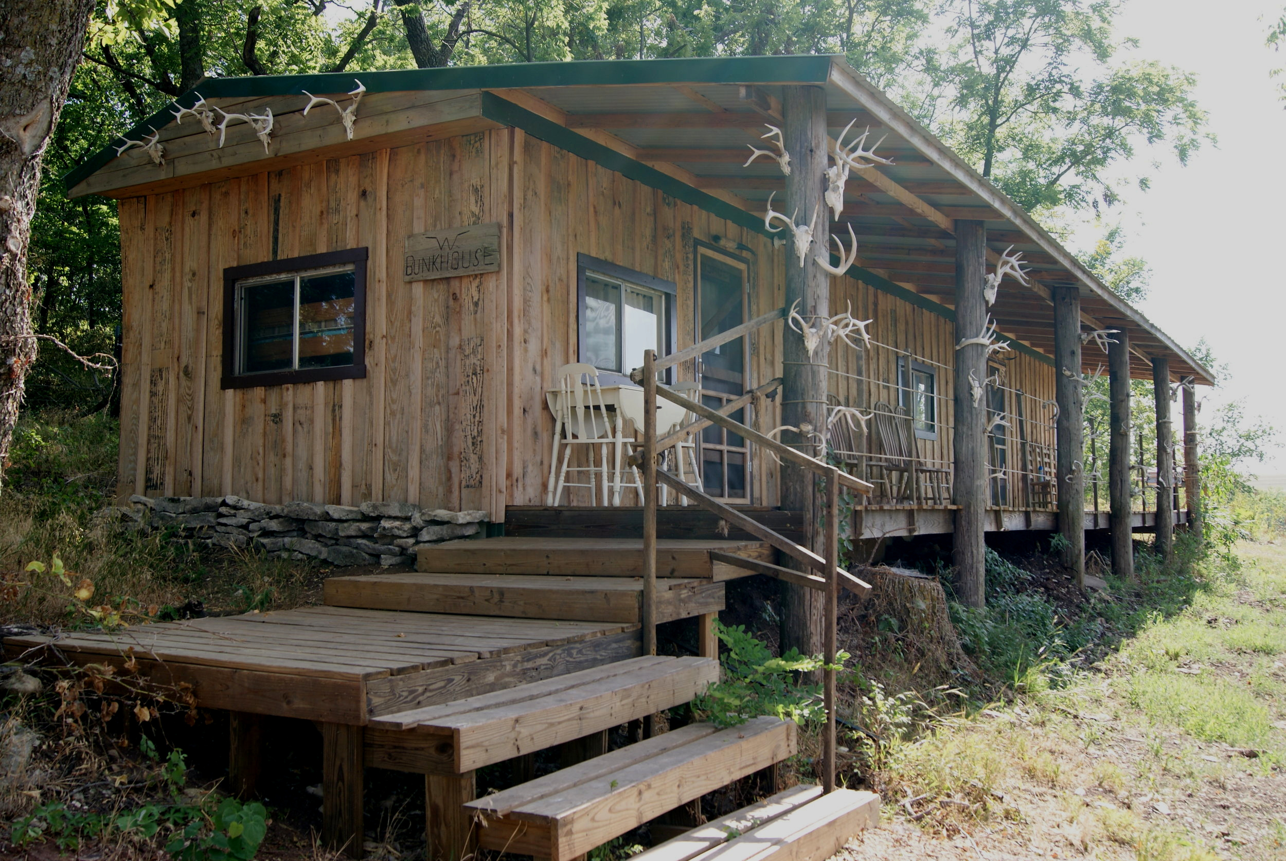 The Bunkhouse stairs and porch