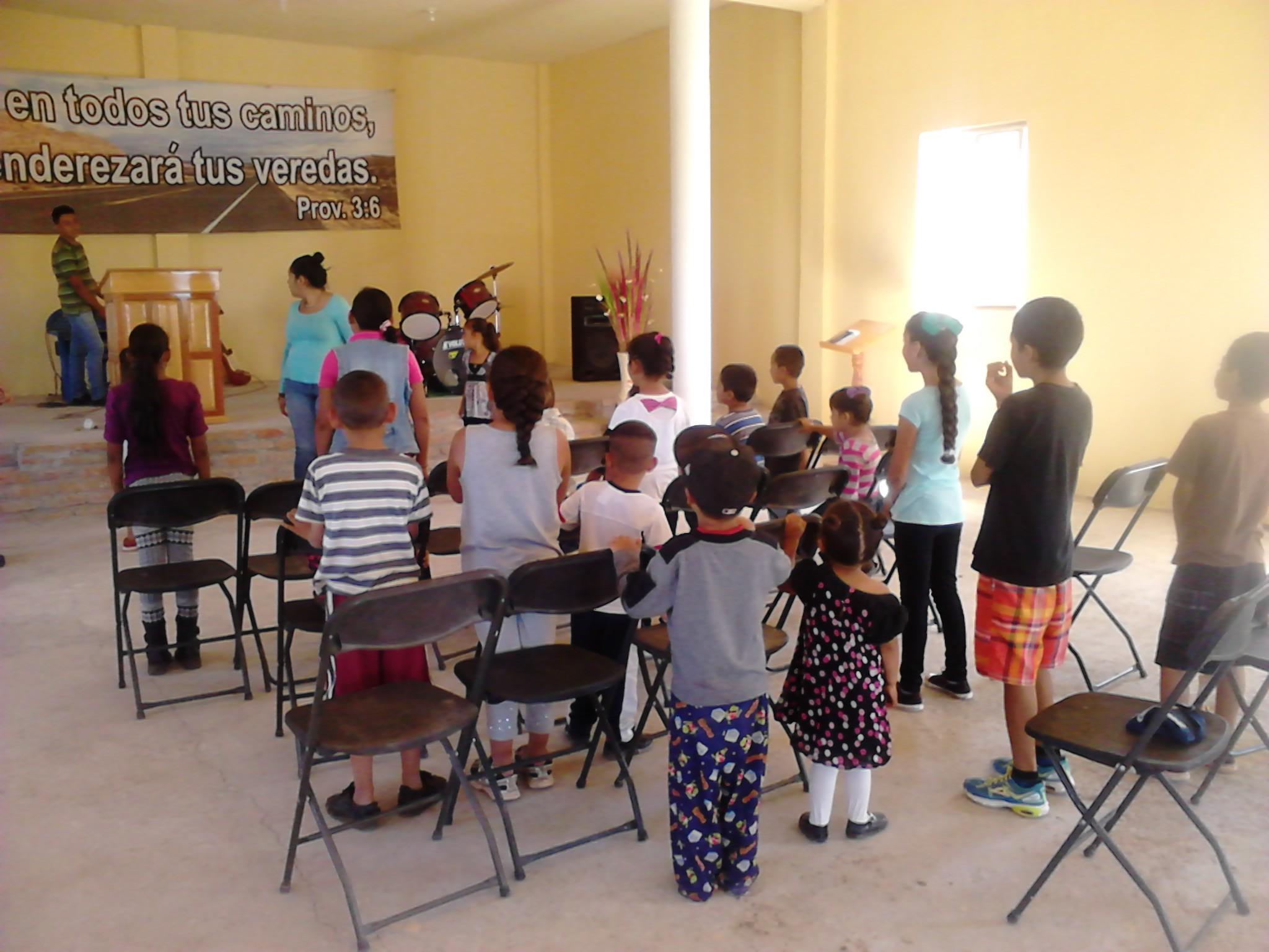 Un evento de los niños de la iglesia