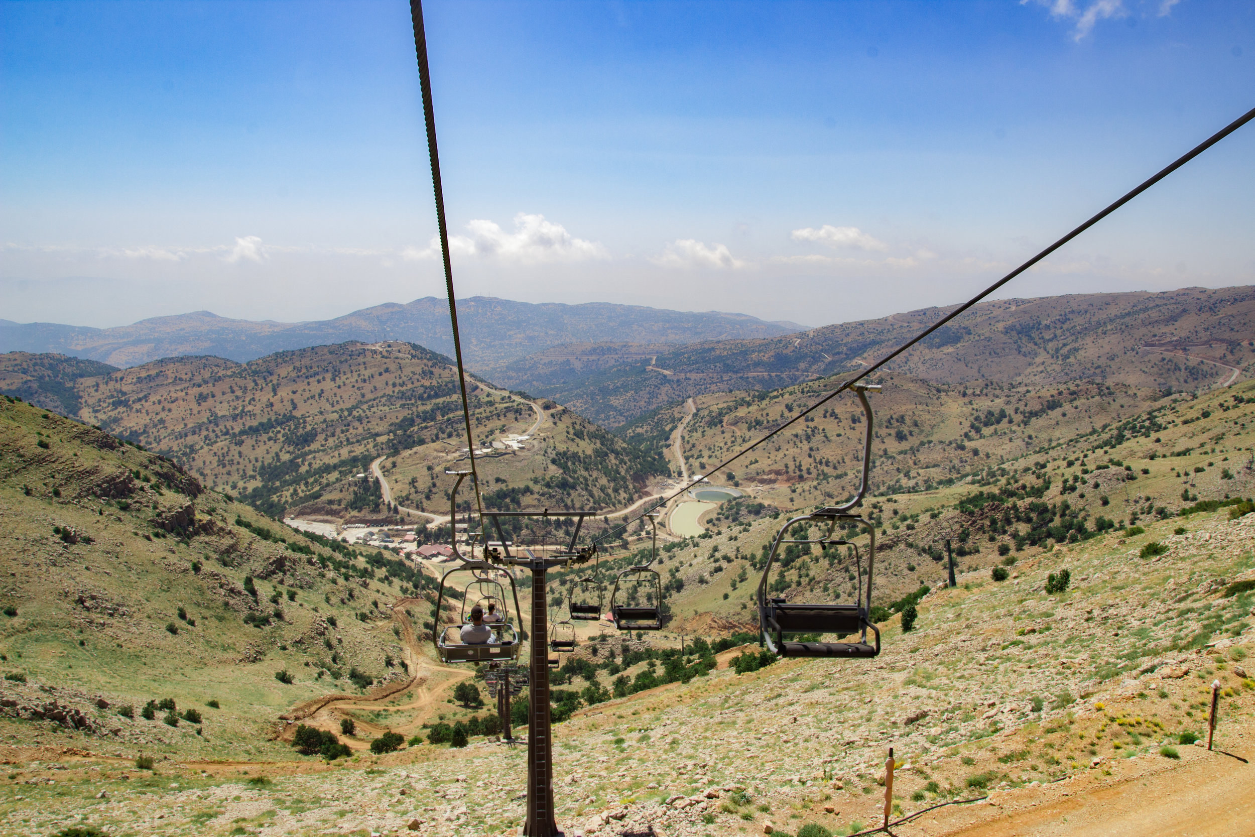 This was super special - Roei brought me to one of the places he served in the military.  We took the chairlift up and down the mountain - the highest point in Israel.