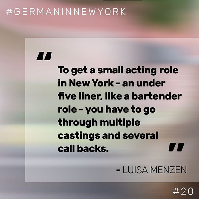 """🎤""""How is life as an actress in New York?"""" - we asked @lillweeza, model and actress based in New York. Head to our podcast ⤴️ (link in bio) for the full interview (in German). #podcast #Newyork #nyc #interview #german #germaninnewyork #actress #actinglife"""