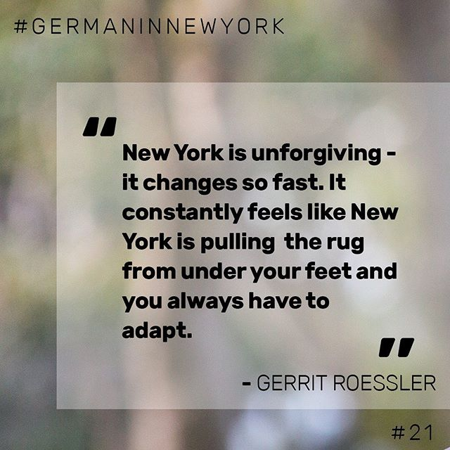 🎤 Quote by Gerrit Roessler, Program Manager at the German Center for Research and Innovation (@DWIHNewYork).   ❓Do you have similar experiences?  ⤴️ Head to our podcast (link in bio) for the full interview!  🎧 Happy listening!  #podcast #interview #newyork #nyc #unforgiving