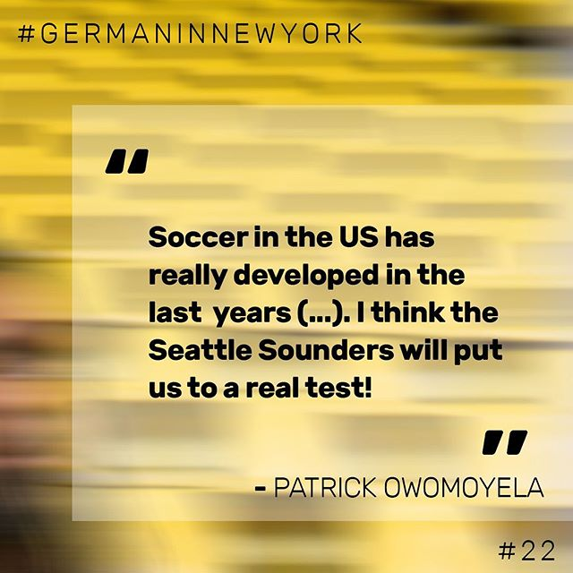 🎤 Patrick Owomoyela (@Owomuck), US Ambassador of BVB Borussia Dortmund, gave us some great insights into their upcoming US tour.   👆🏼Check out our website (link in bio) for more infos on the scheduled match days and the link to the full podcast interview.  Happy listening 🎧  #germaninnewyork #bvb #soccer #seattle #seattlesounders #german #NewYork #nyc #dortmund #podcast #interview #bvb09