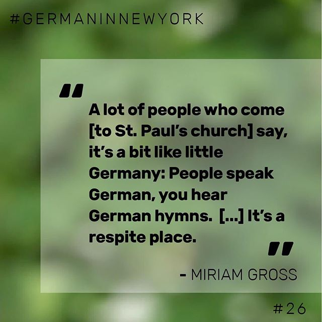 🎤 Extract from our interview with Miriam Gross @mi_gross, Pastor in New York representing St. Paul's Church, a German Evangelical church in the heart of Chelsea, New York. Head to the link in our profile for the full interview! ☝🏼 #newyork #nyc #pastor #church #german #germaninnewyork