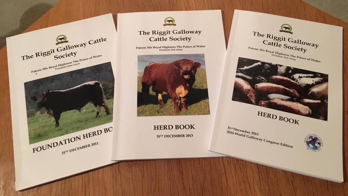 The current biannual and some previous years' herd books may be available. £10 each plus postage.