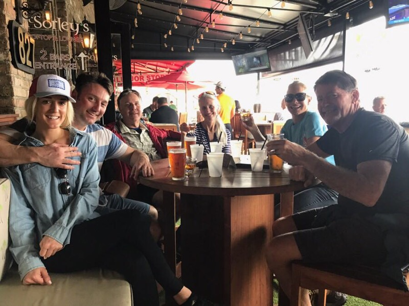 Brittany, Blake, Brant and Mary…shake down 2.0 crew re-hydrating at a Ft. Lauderdale pub