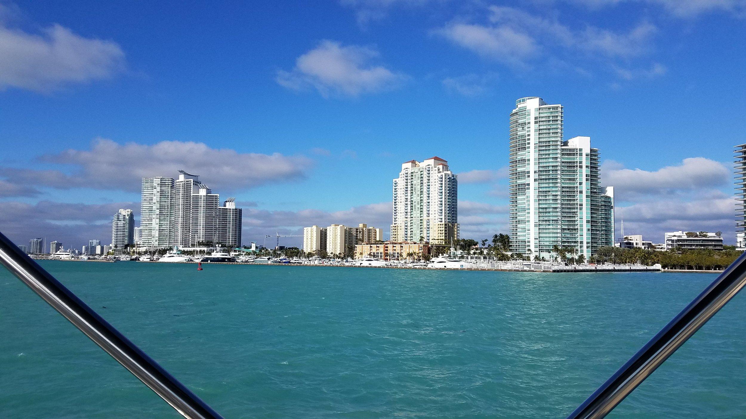Miami city front