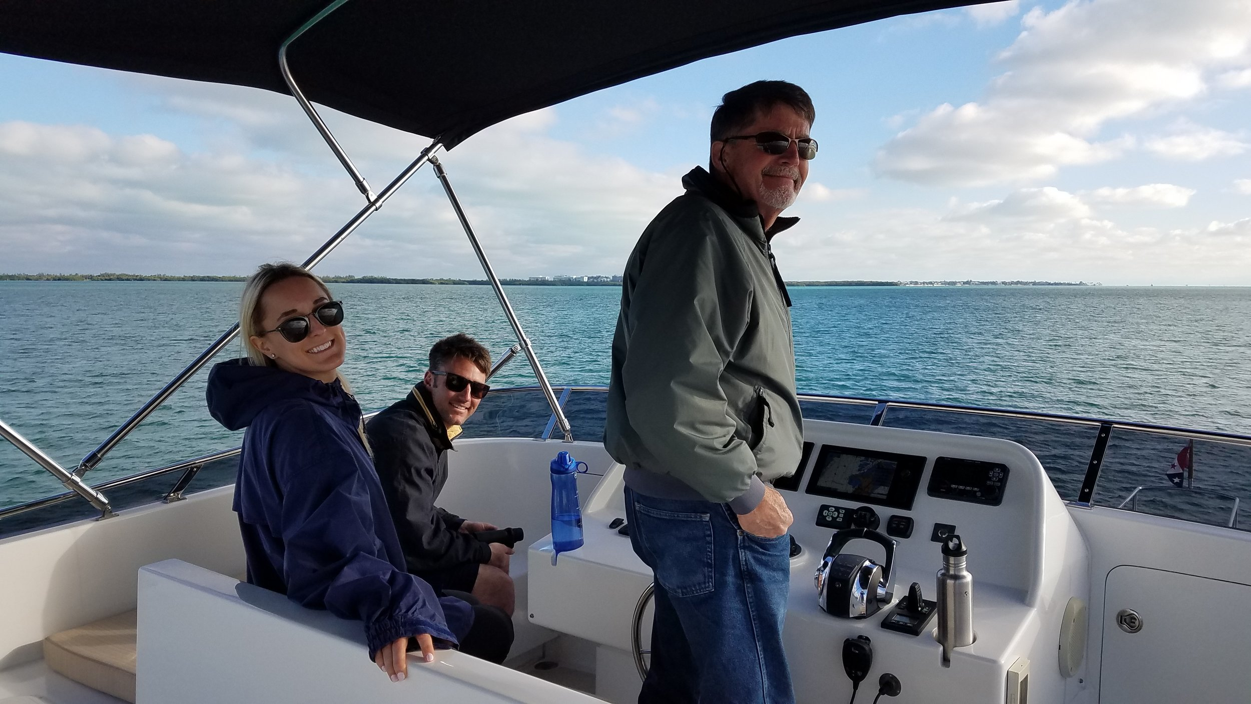 Biscayne Bay crew, Blake, Brittany and Larry