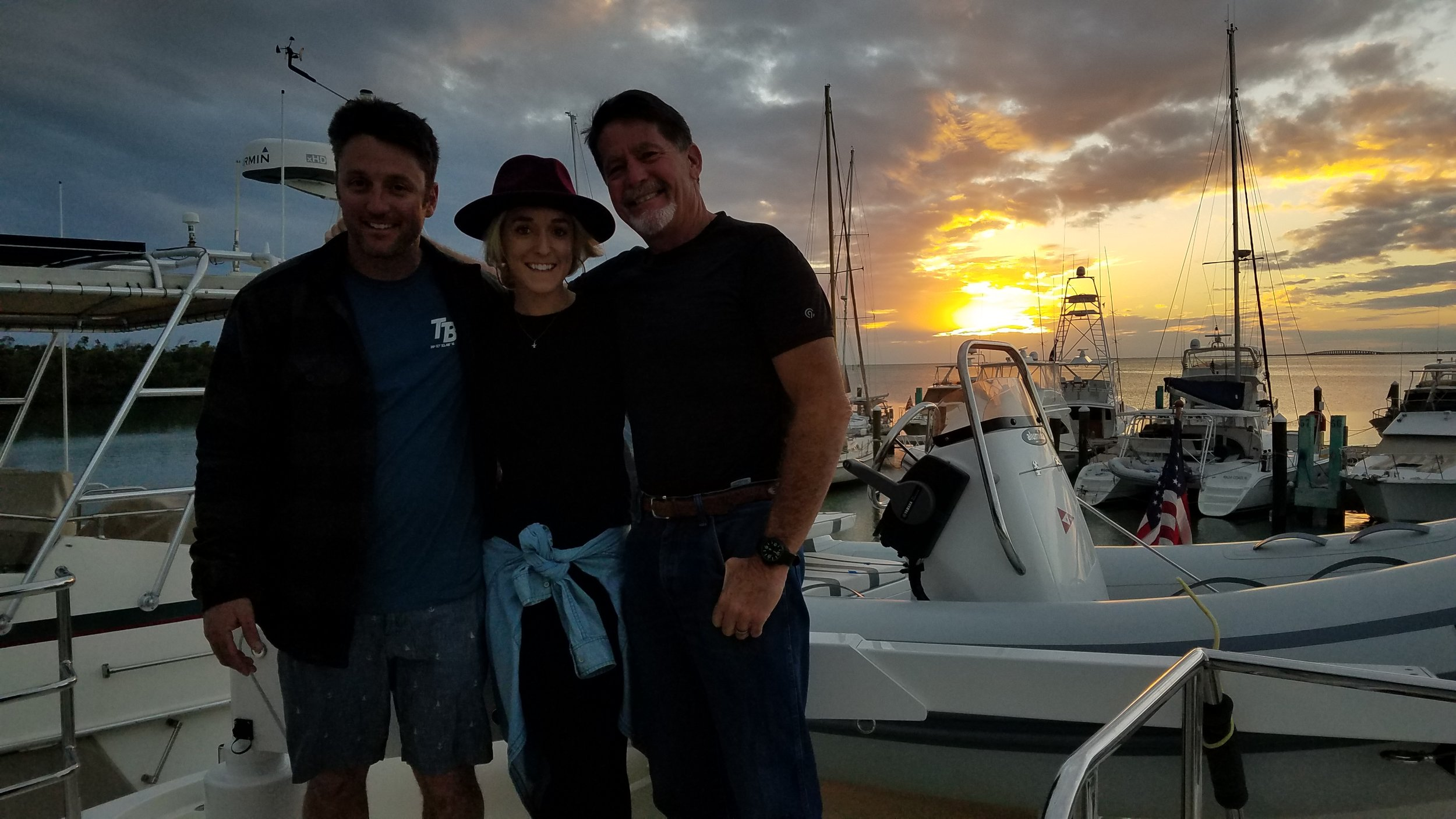 Sunset aboard the Independence with Blake and Brittany in Marathon Key