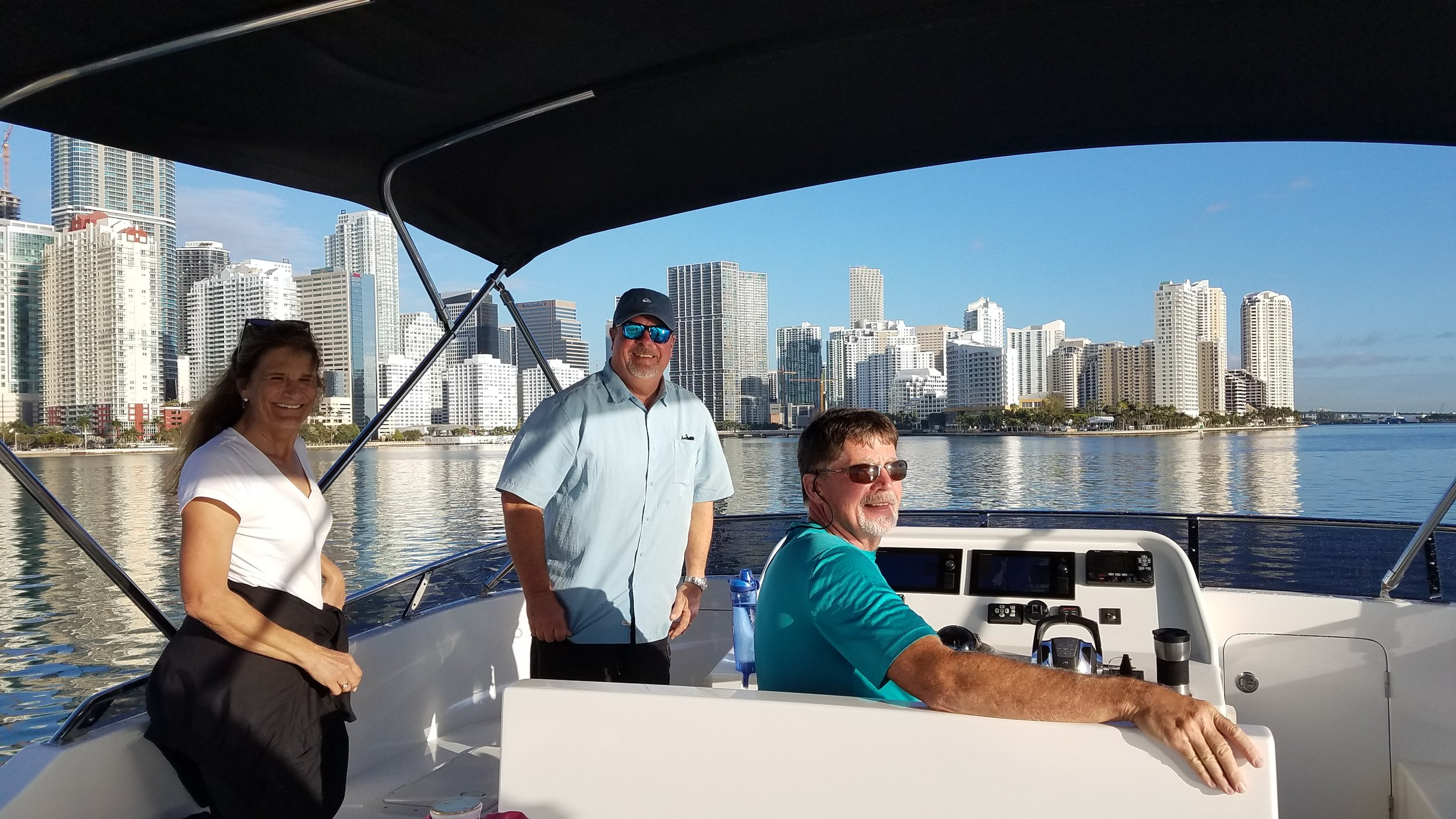 Making our way through the Miami shipping channel