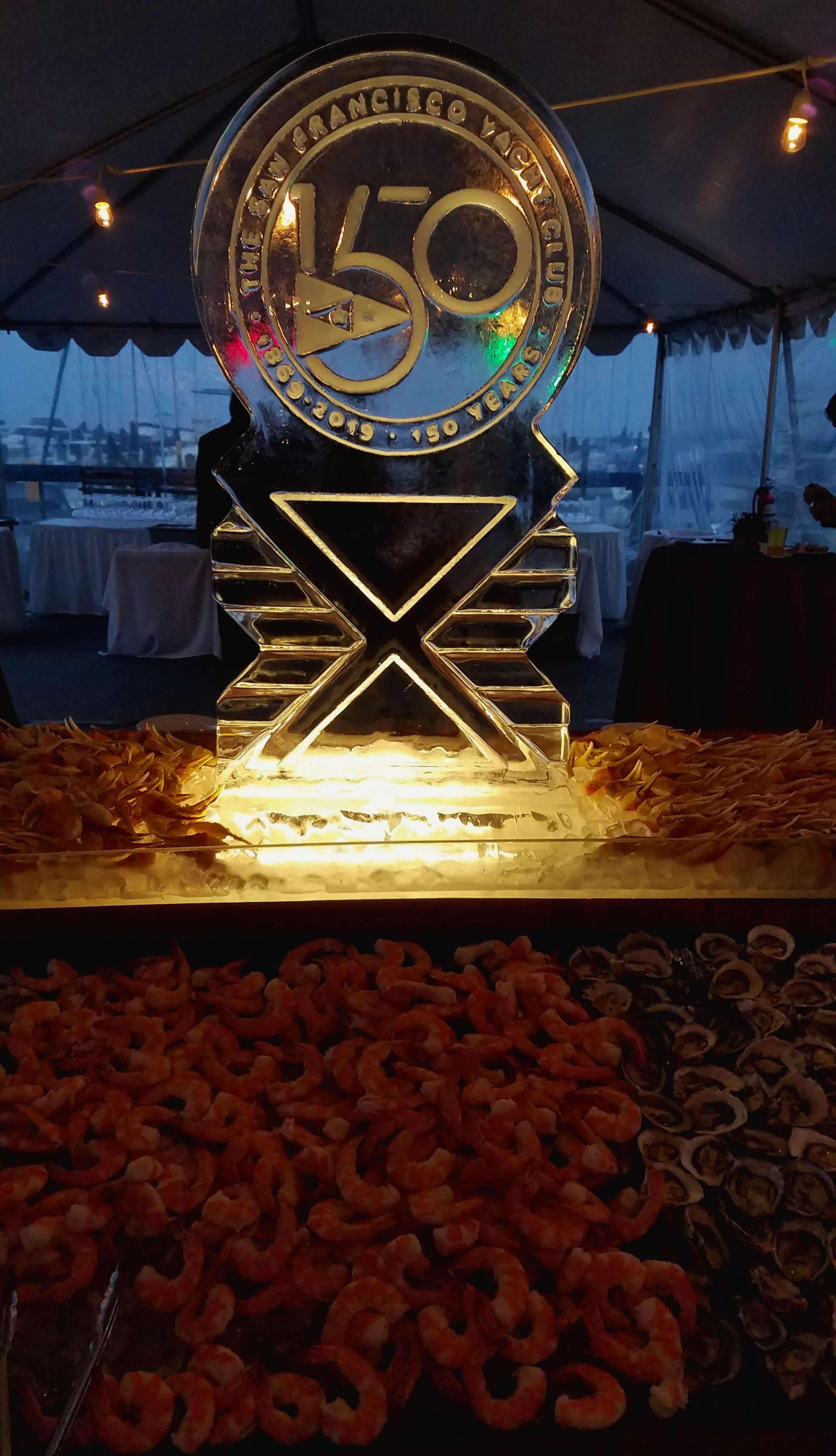 The 150 year anniversary celebration at the club was fabulous, especially the seafood buffet