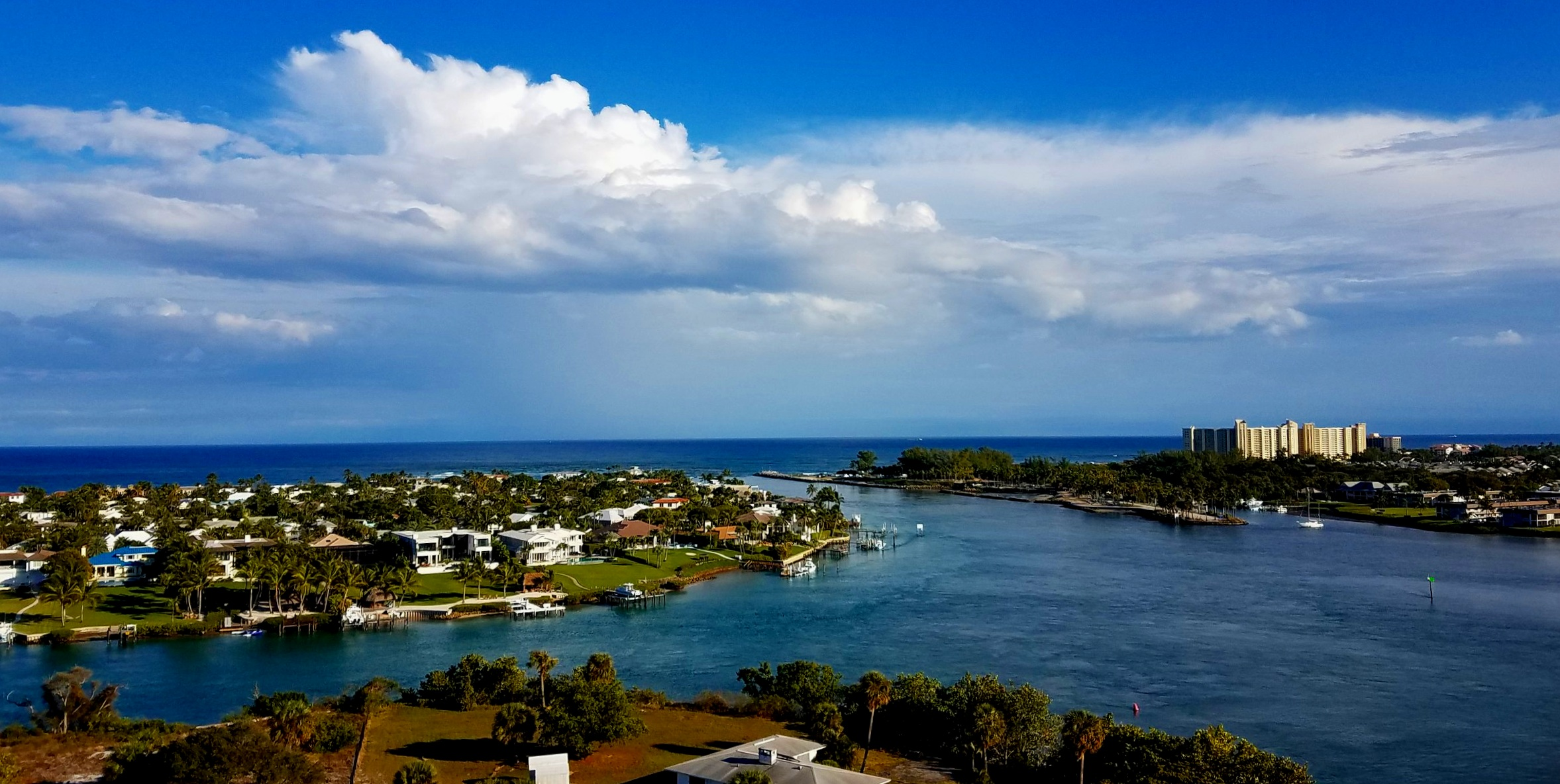 The fabulous view at the top of Jupiter Inlet and surrounds