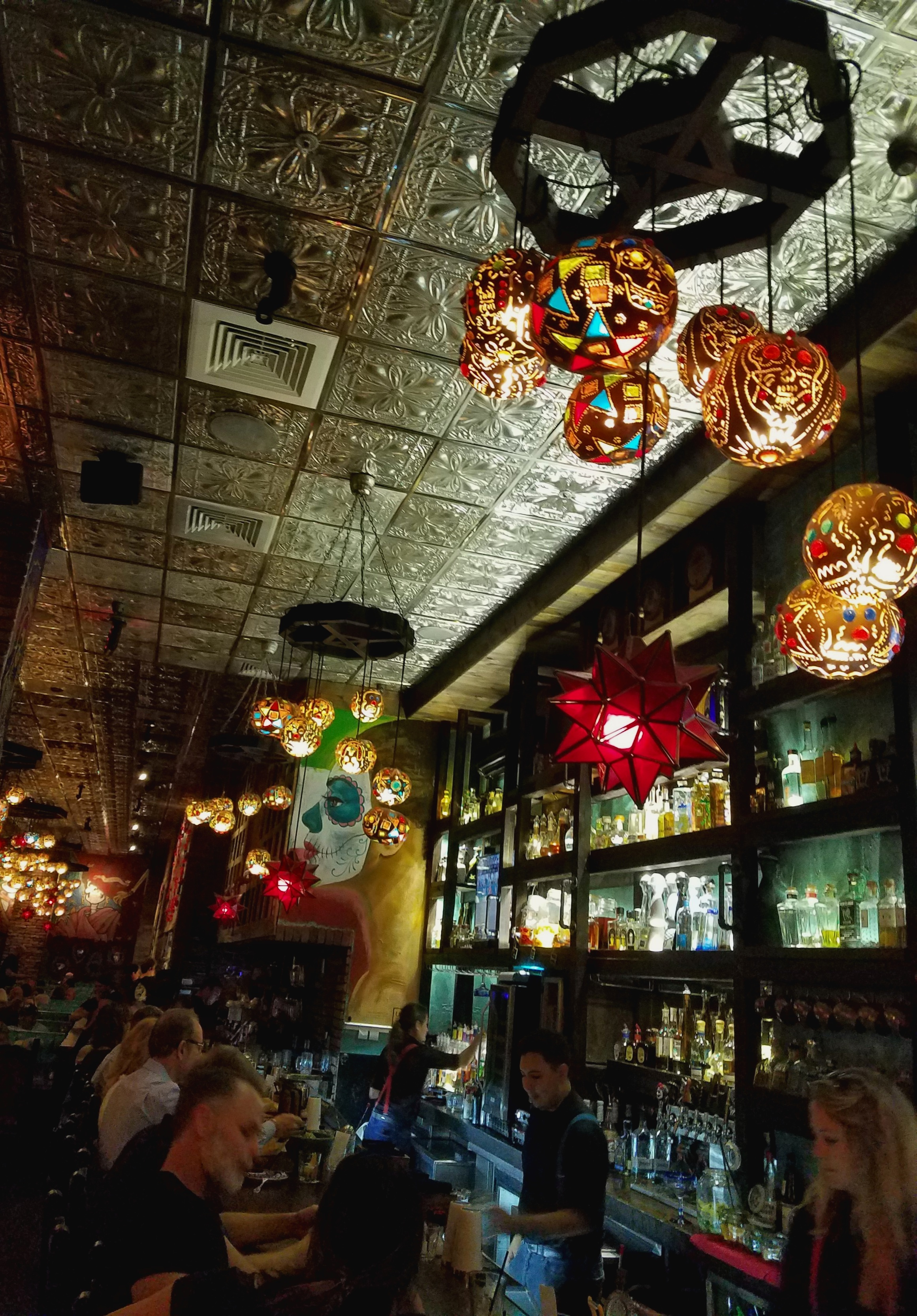 Calaveras Cantina has an amazing selection of fairly priced tequilas, a great happy hour & fabulous decor…plus, you can take your boat/tender to the restaurant! www.calaverascantinas.com