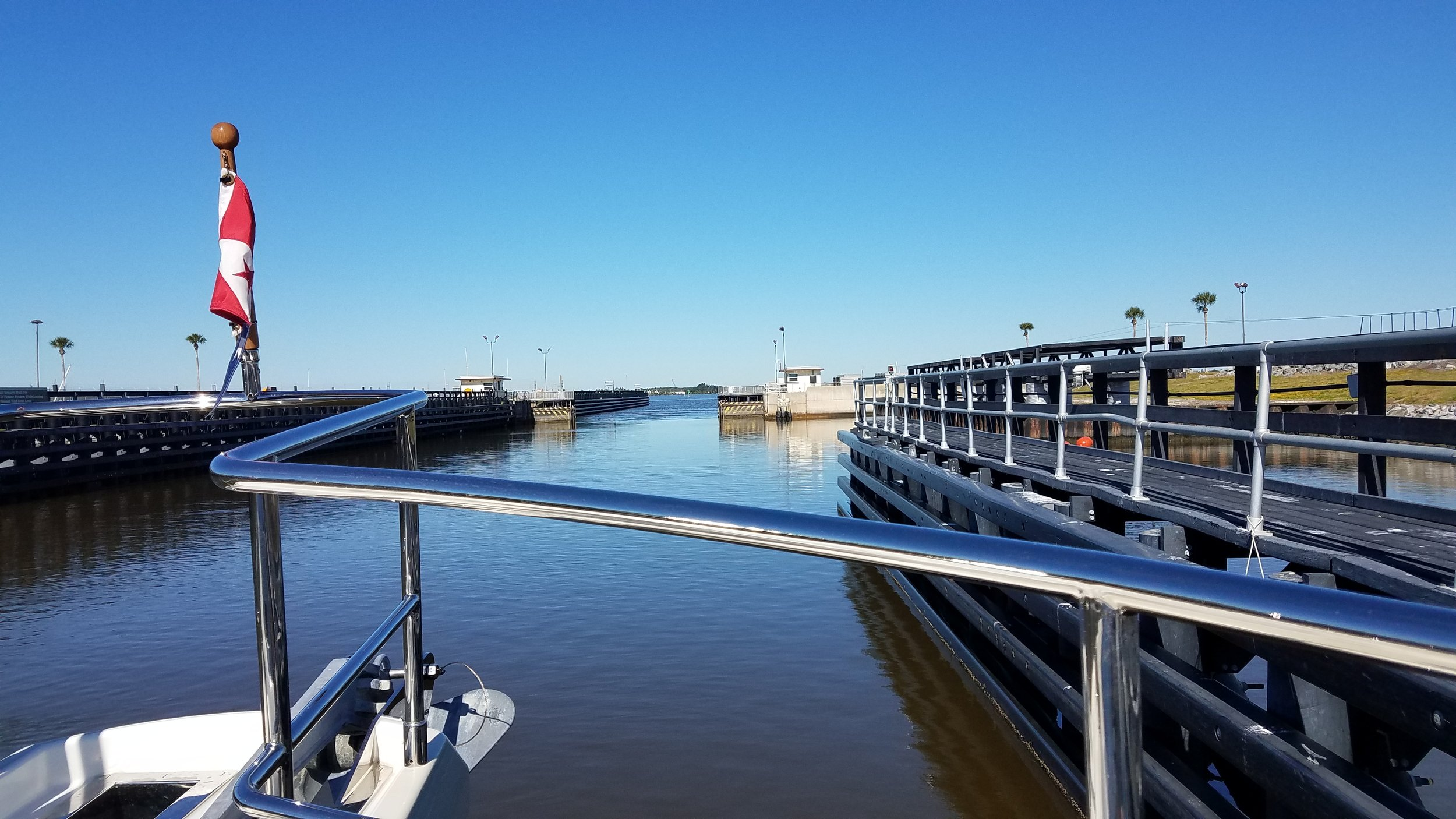 Our first lock at Cape Canaveral heading to the ICW