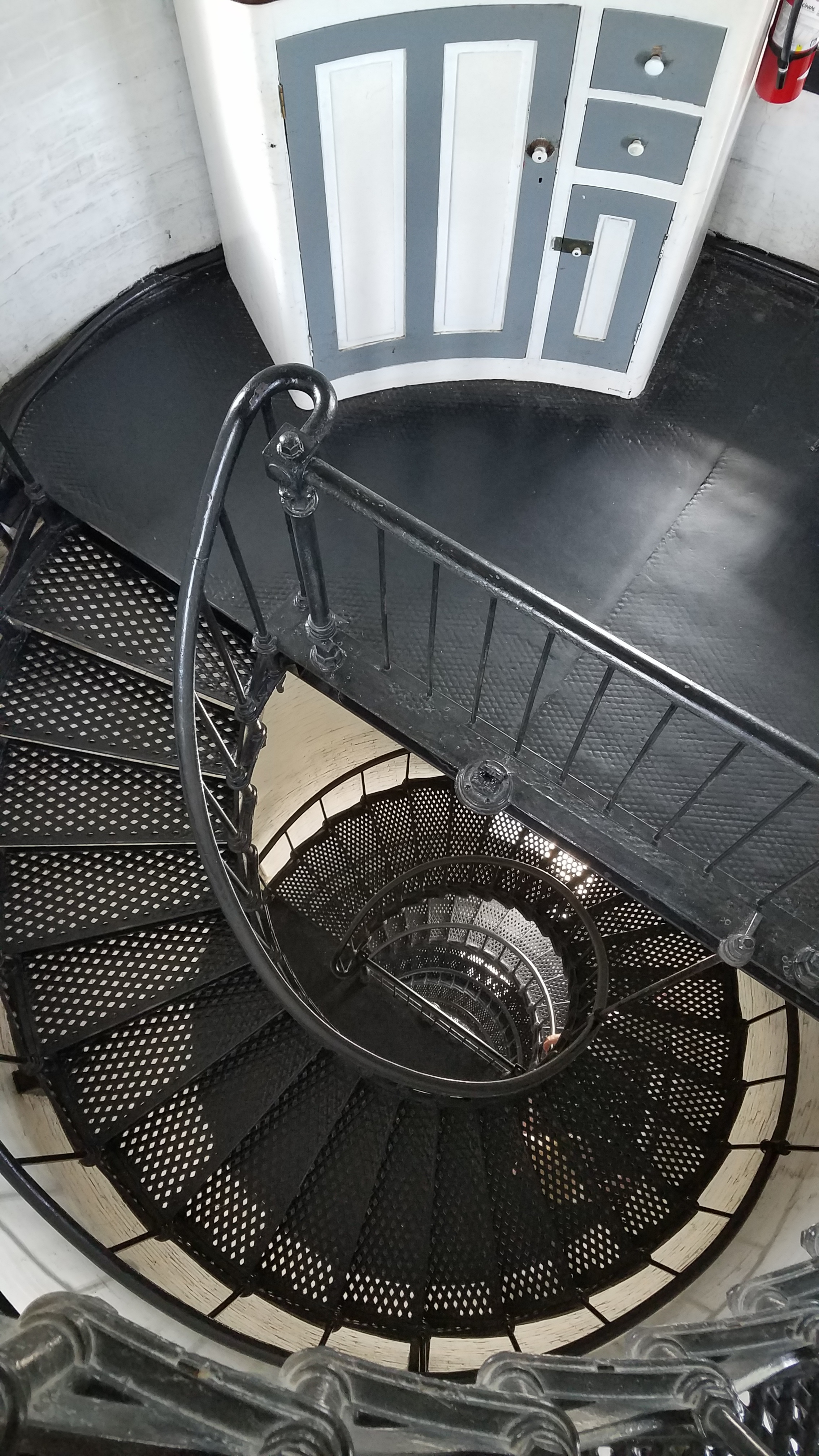 I am in love with light house stairs.