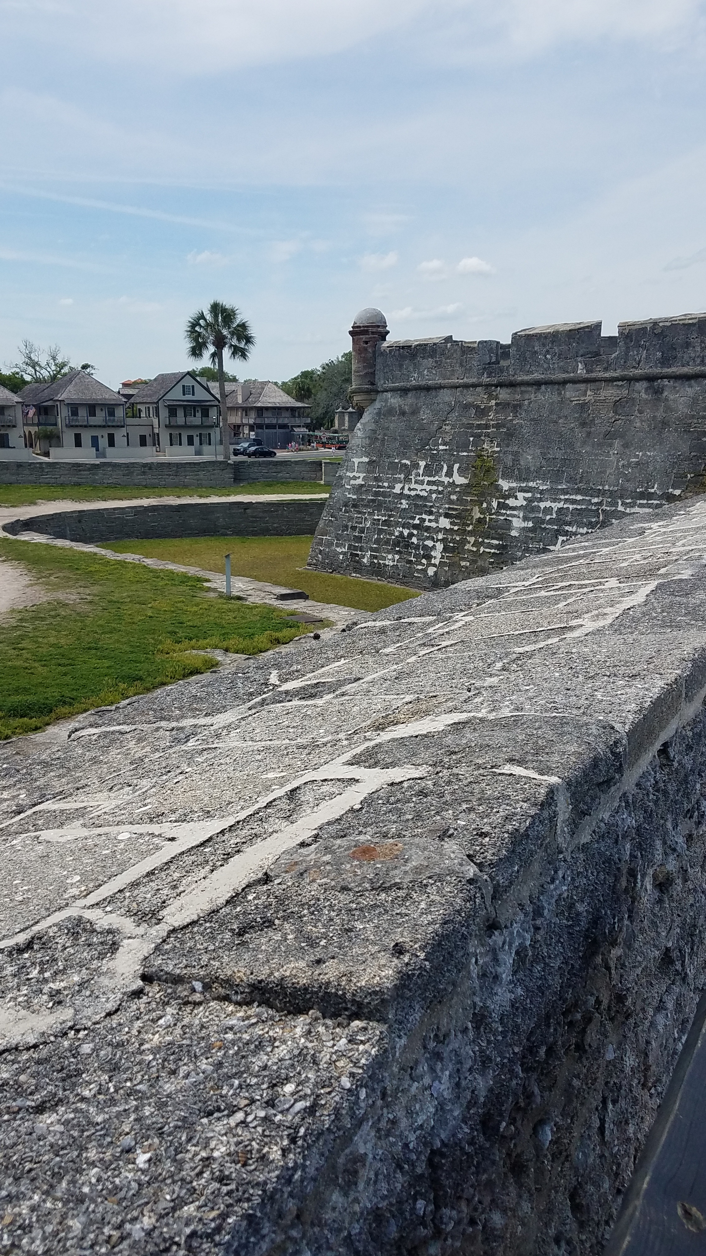 The Castillo de San Marcos completed in 1695