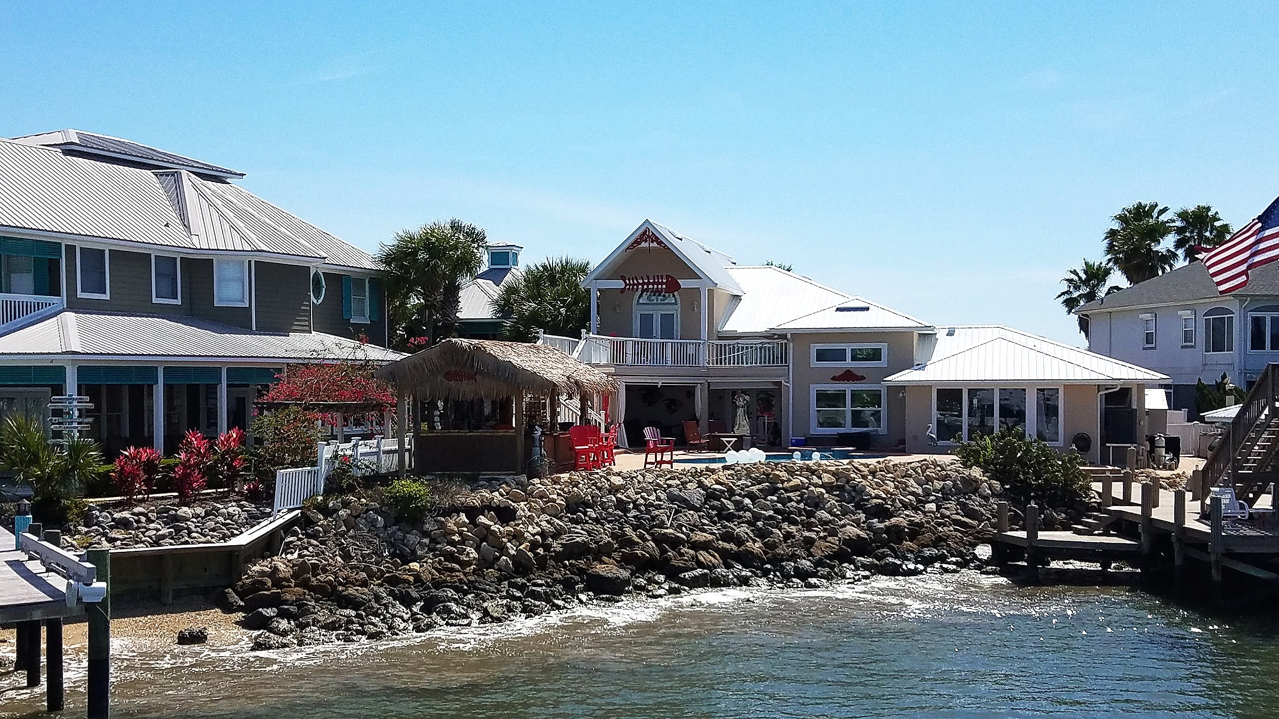 These people have fun! One of many amazing houses along the ICW.