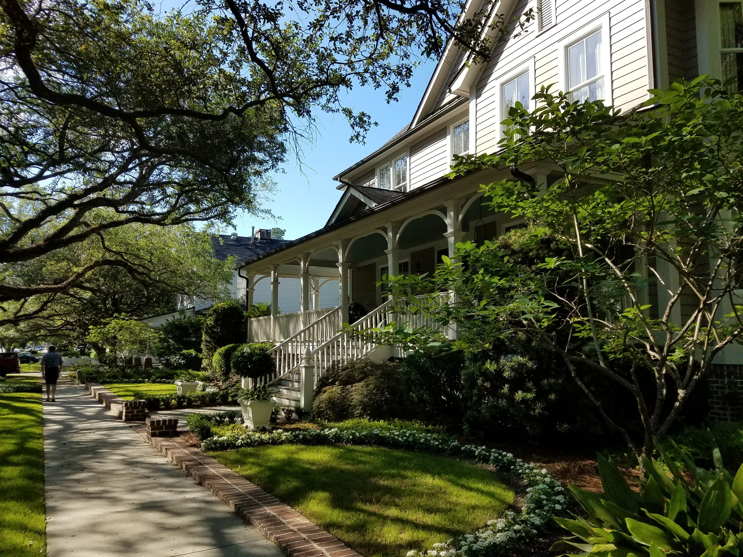 Charming tree lined streets in Georgetown, SC