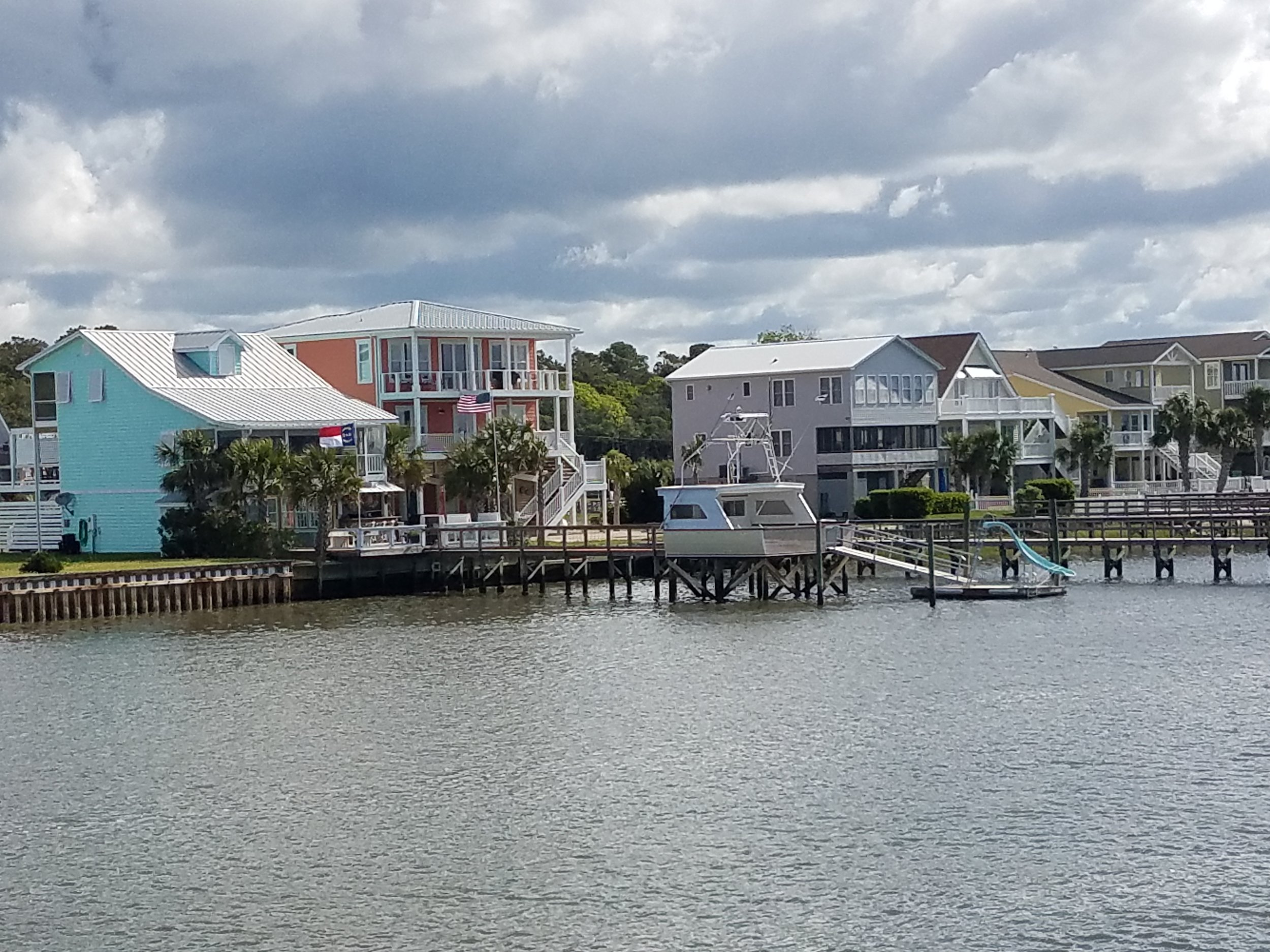 Loved this home on the ICW that used their old boat stern as a boat house and had a water slide to boot!