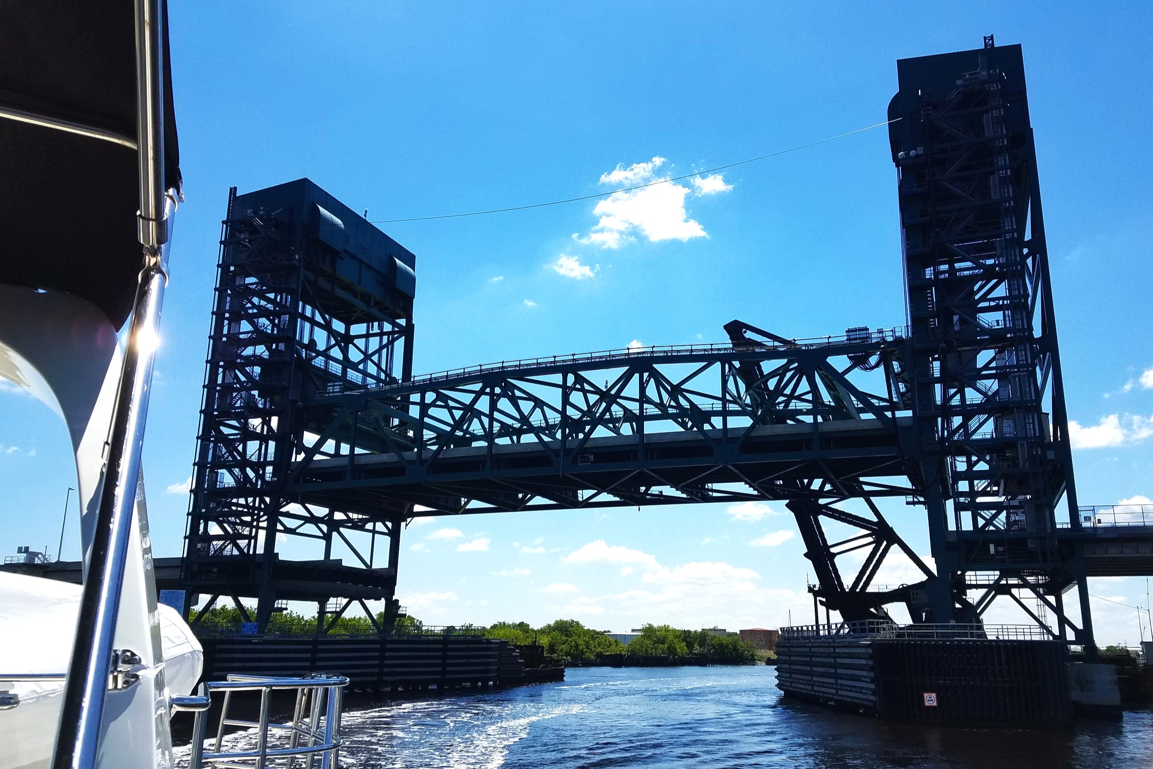 I had to include this different 'elevator bridge'. This was the first we had been under and we are almost to Norfolk, VA.