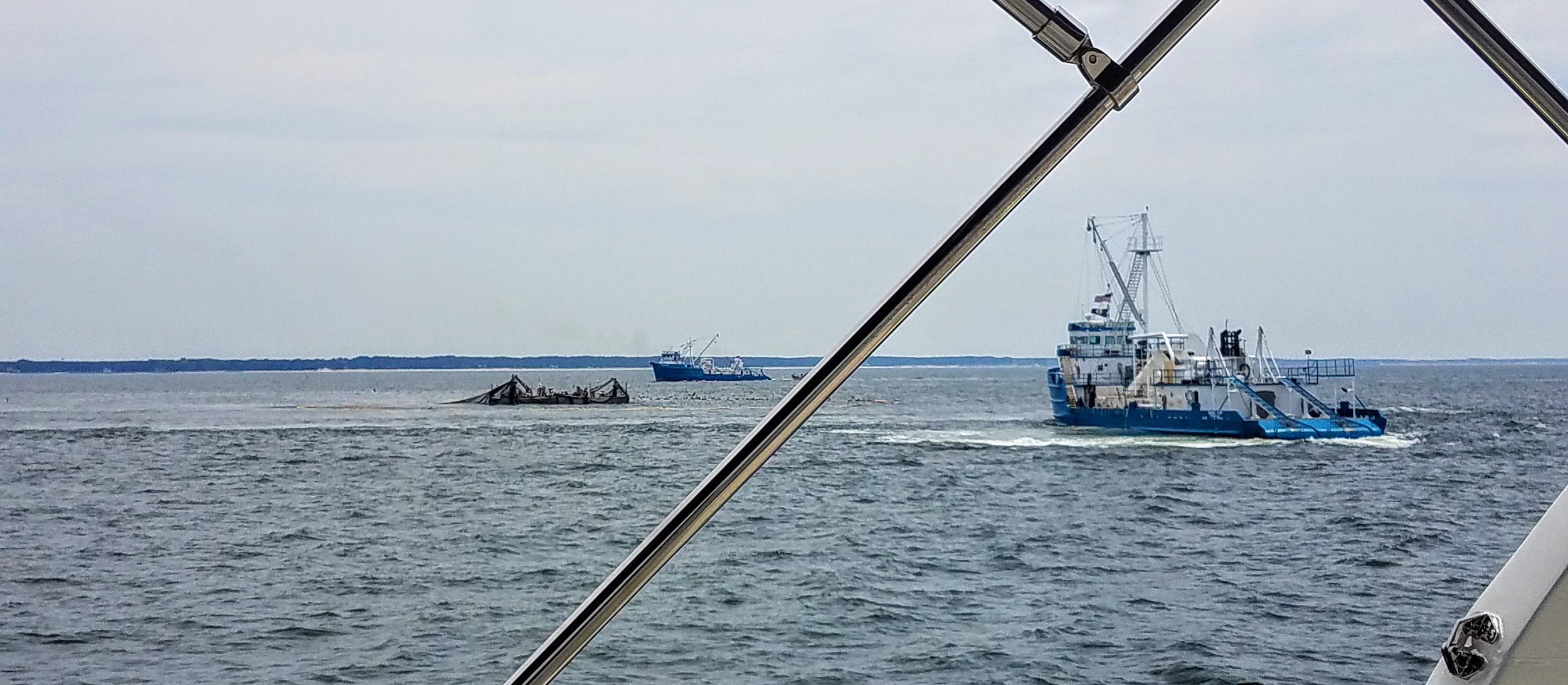 There were at least four of these large commercial fishing vessels working as we were attempting to enter the channel for Cape Charles.