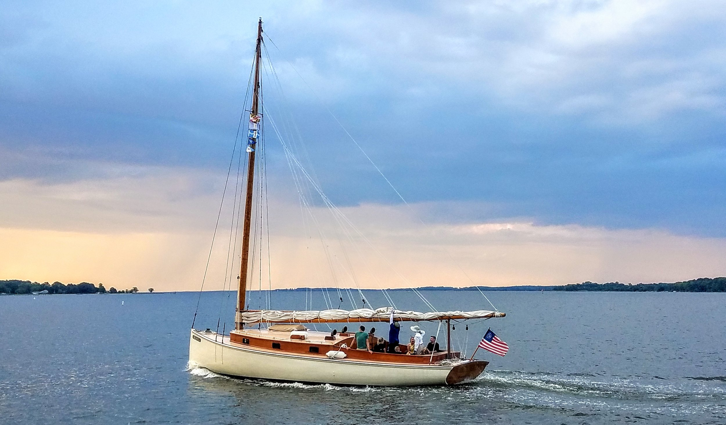 The 'Selena'. You can hire her crew to take you on a sunset cruise