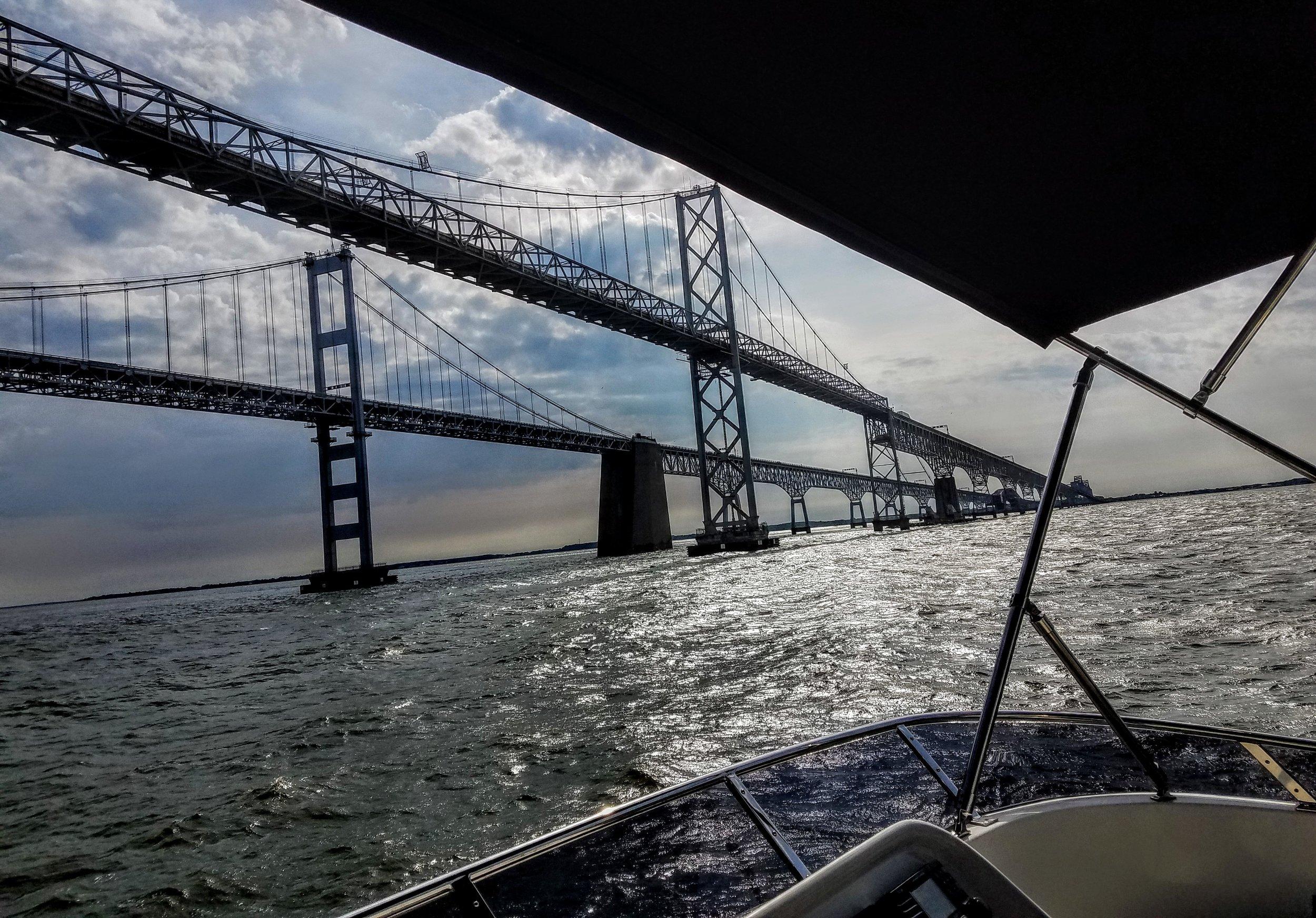 Leaving Annapolis, MD. The William P. Lane Memorial Bridge. Heading to Baltimore, MD