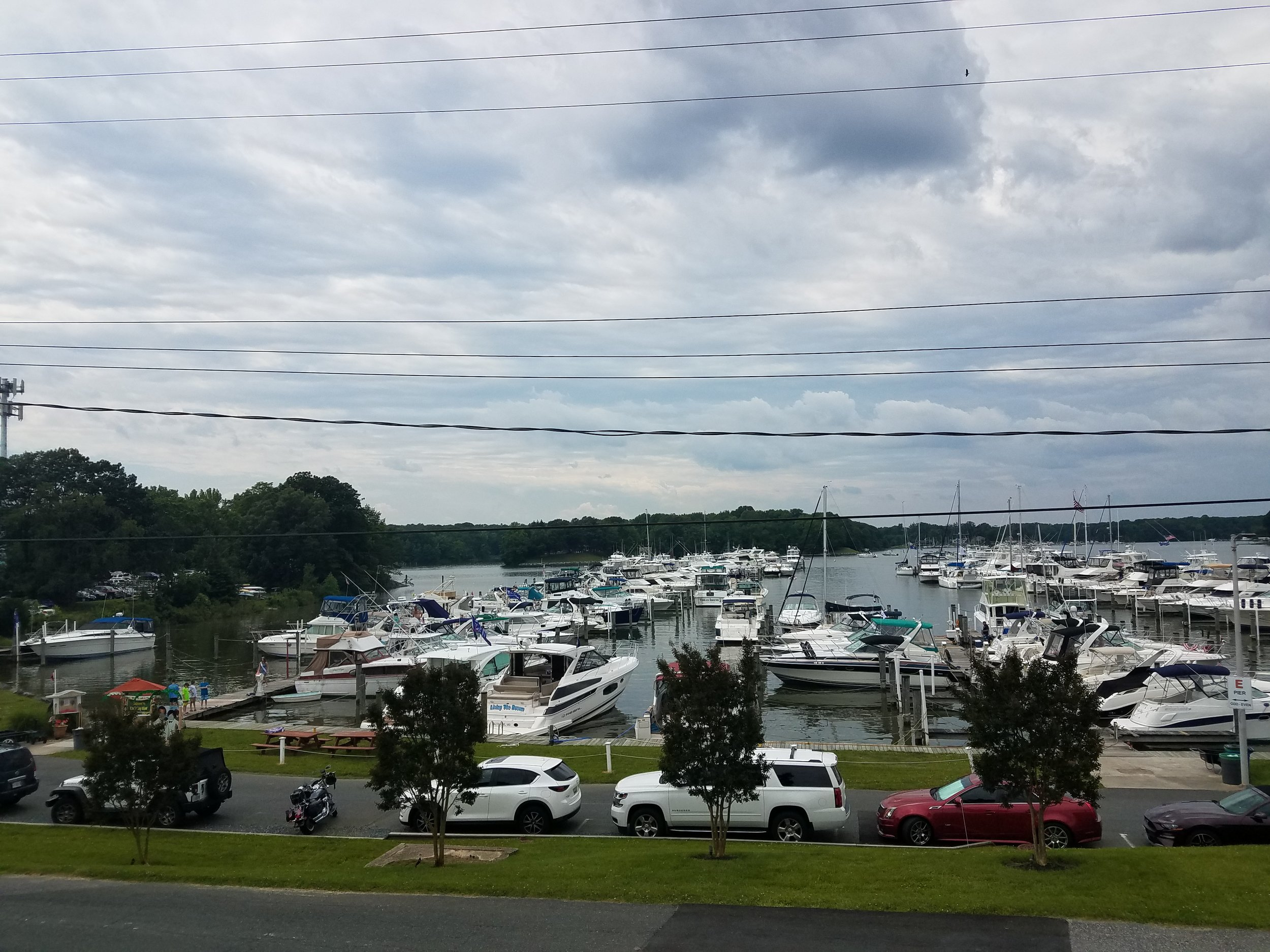 The busy Baltimore Yacht Club Marina