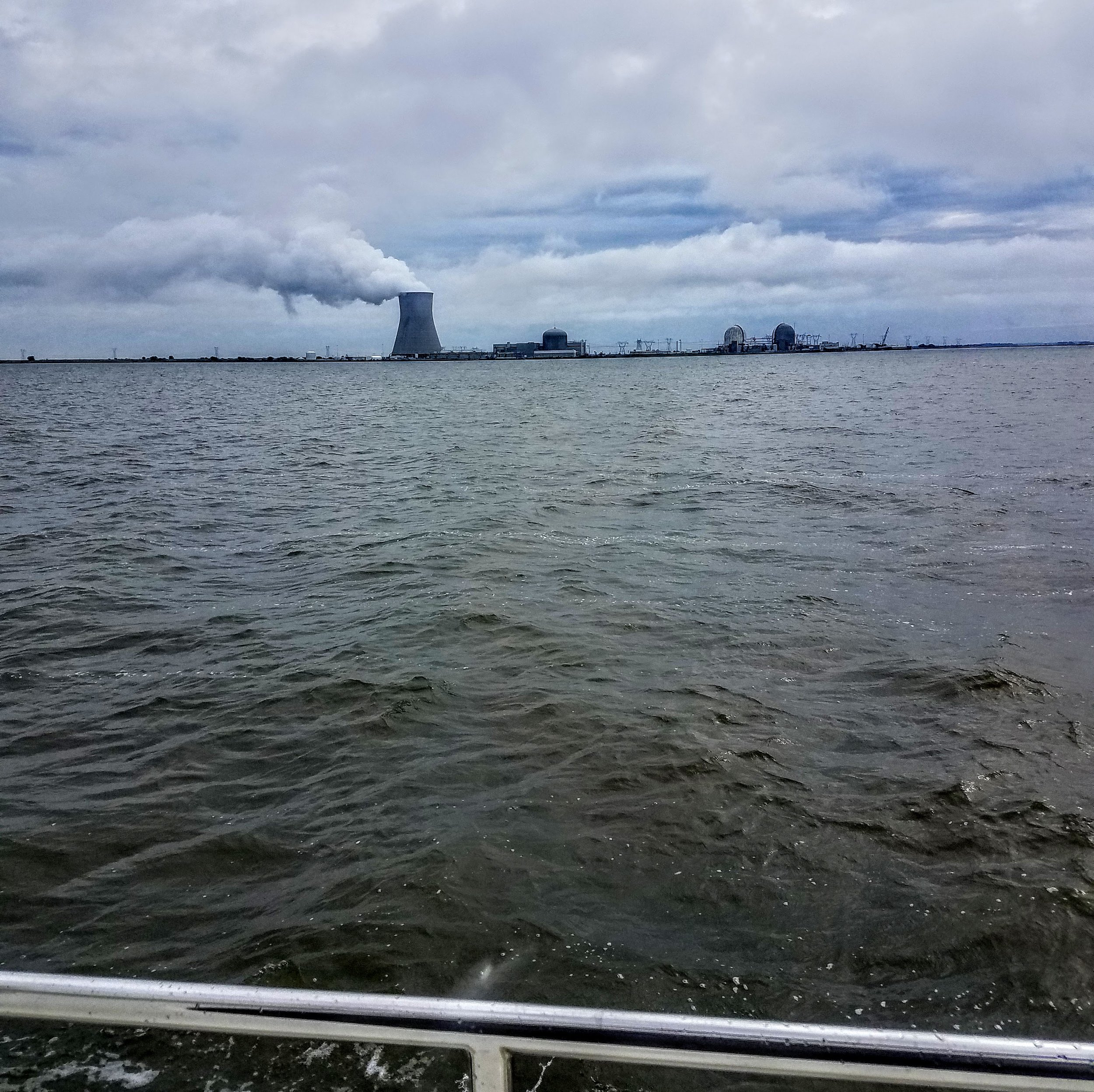 The Delaware River may not be scenic but it is interesting…nuclear power plant.